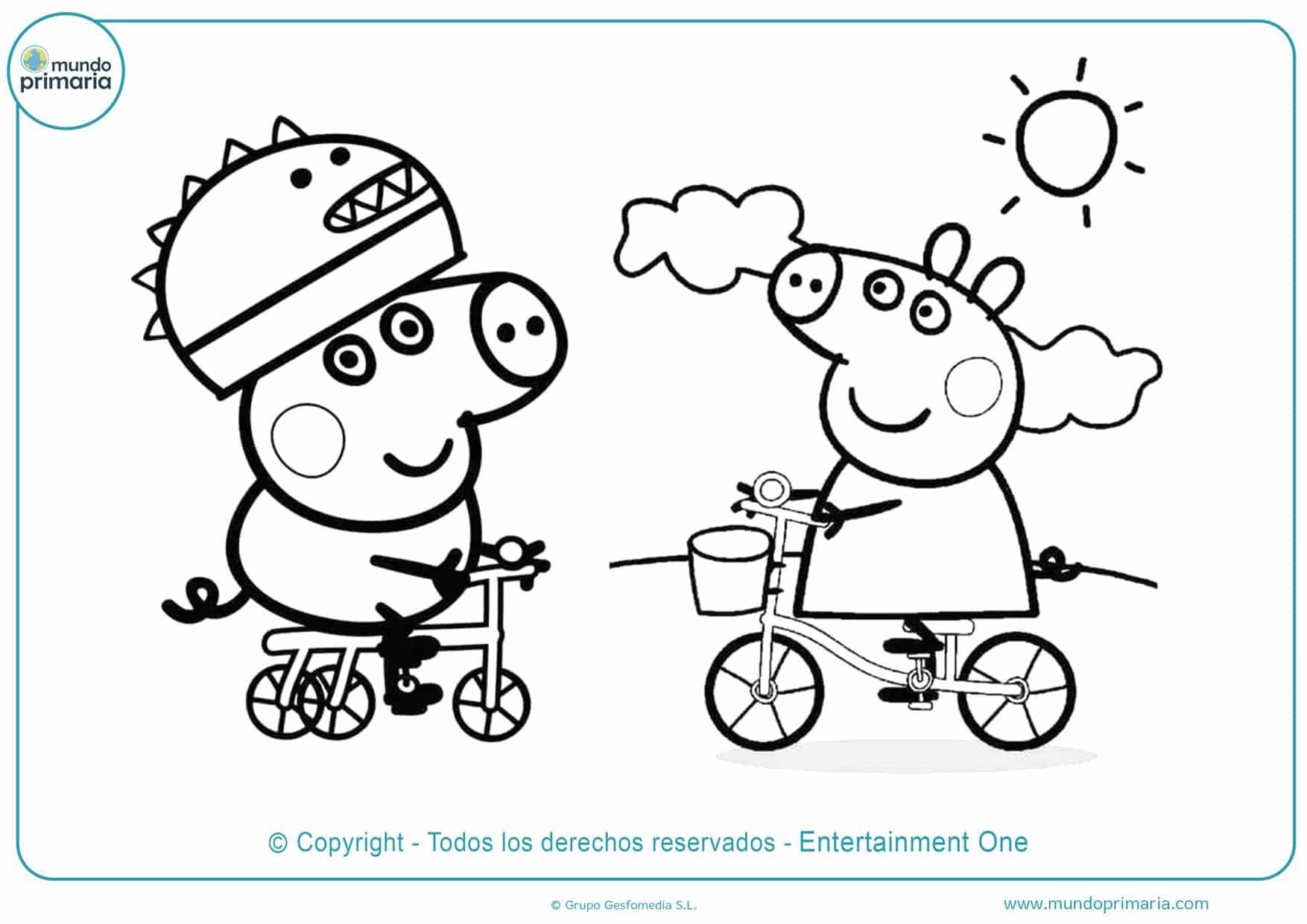 dibujos de peppa pig para colorear online