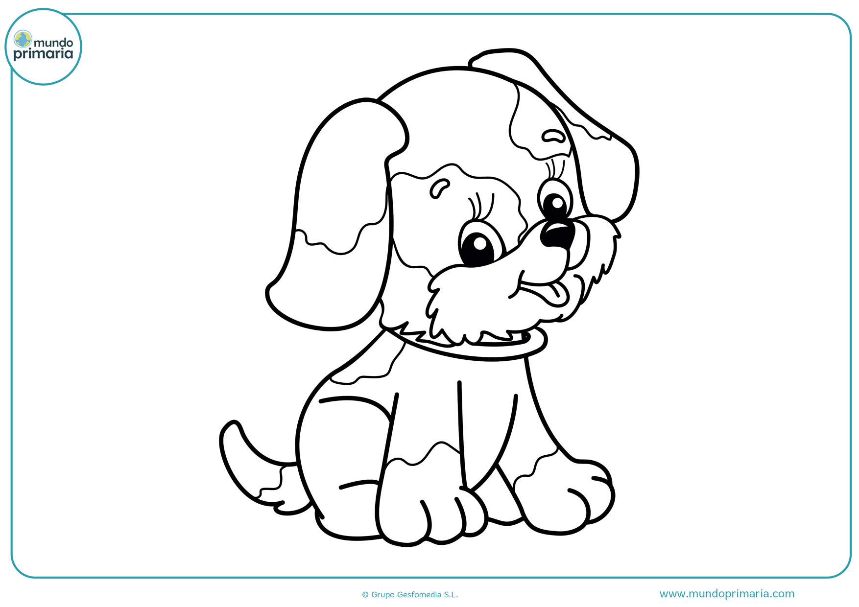 dibujos de perros animados para colorear