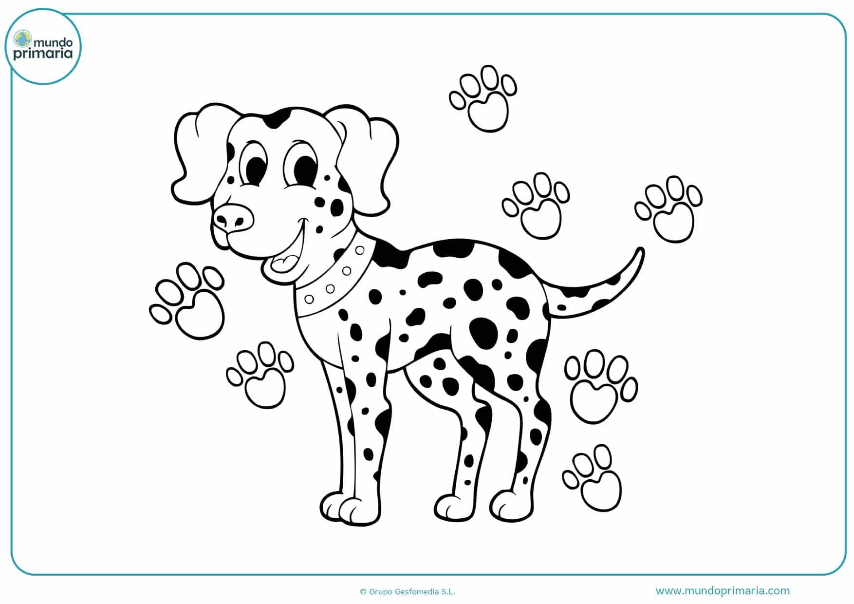 dibujos de perros dalmata para colorear