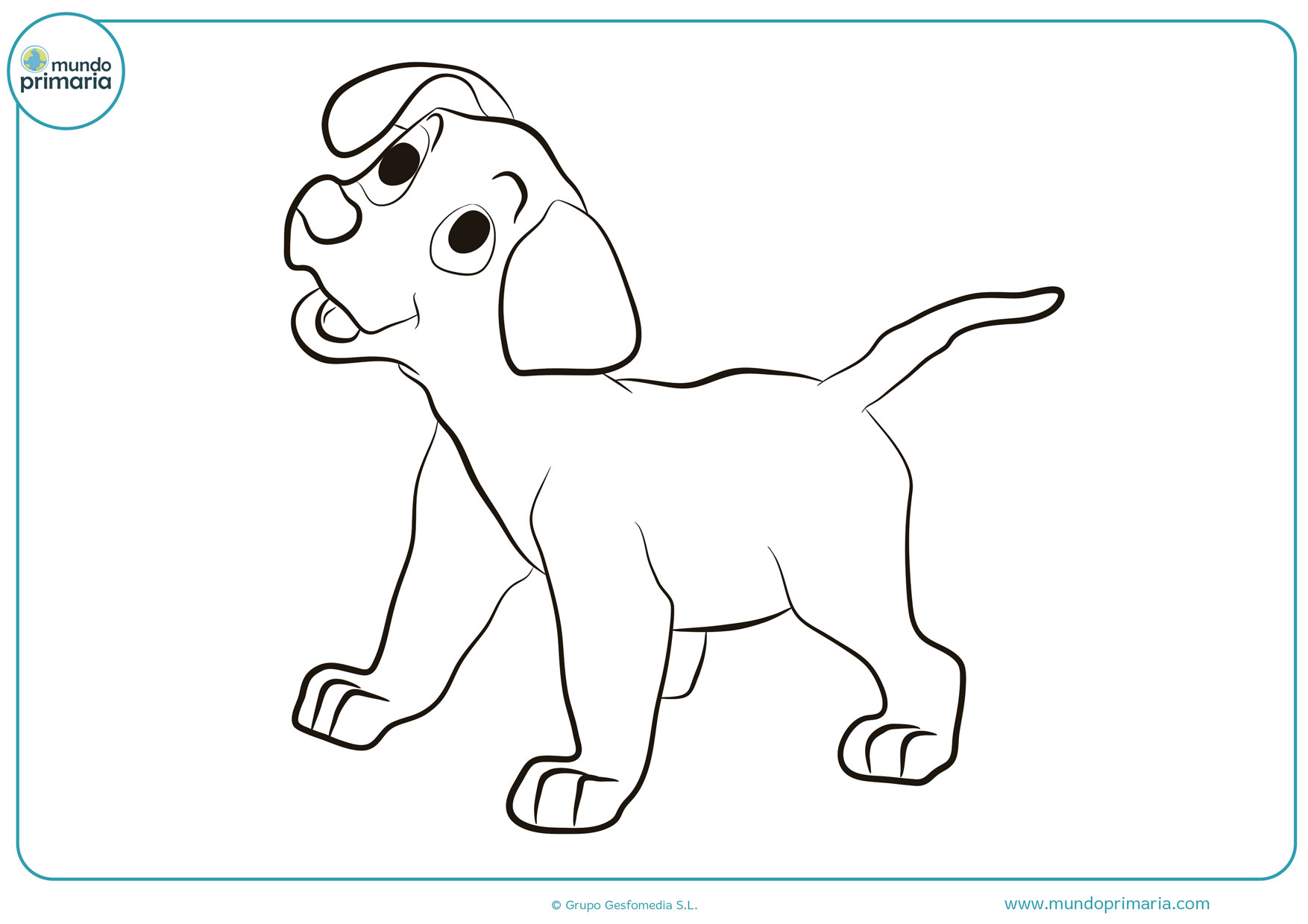 dibujos de perros para colorear fáciles