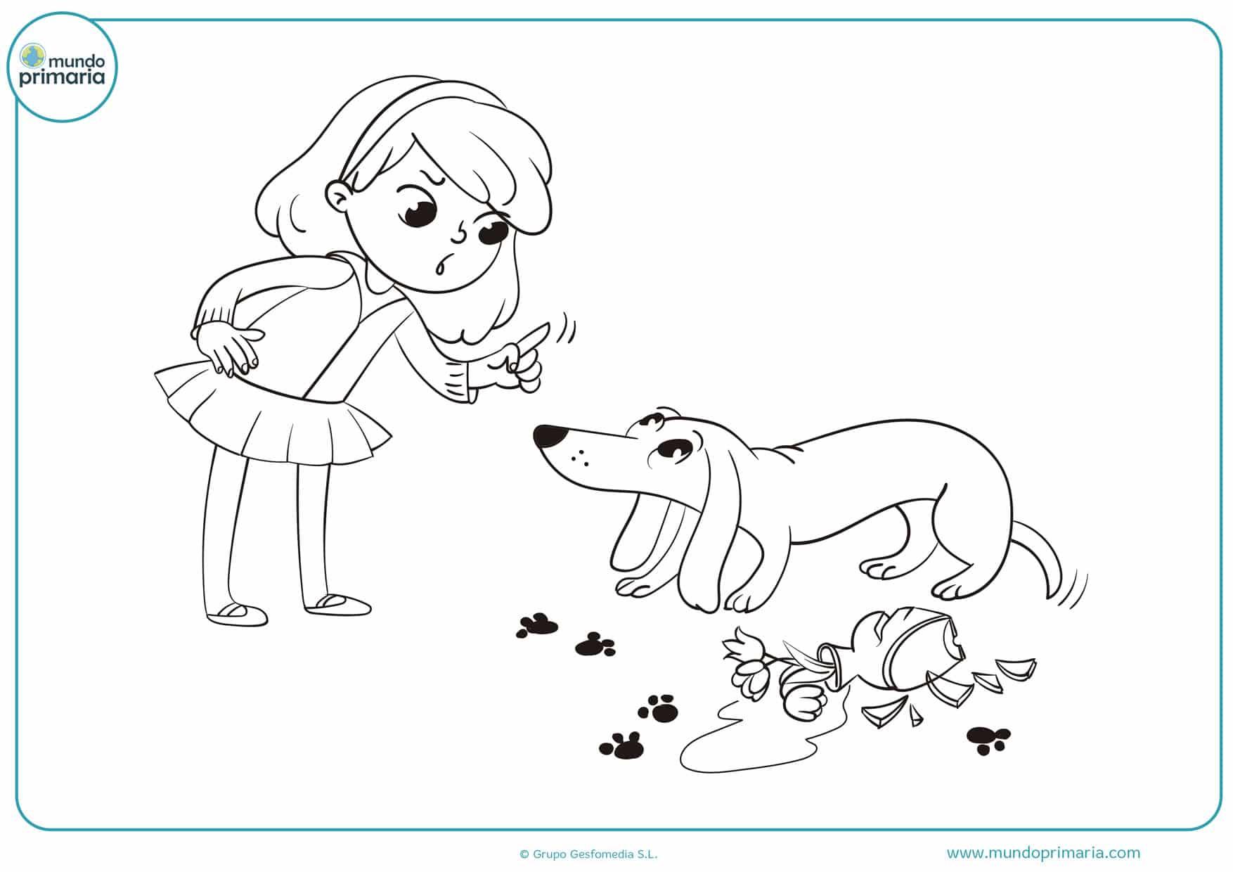 dibujos de perros salchichas para colorear