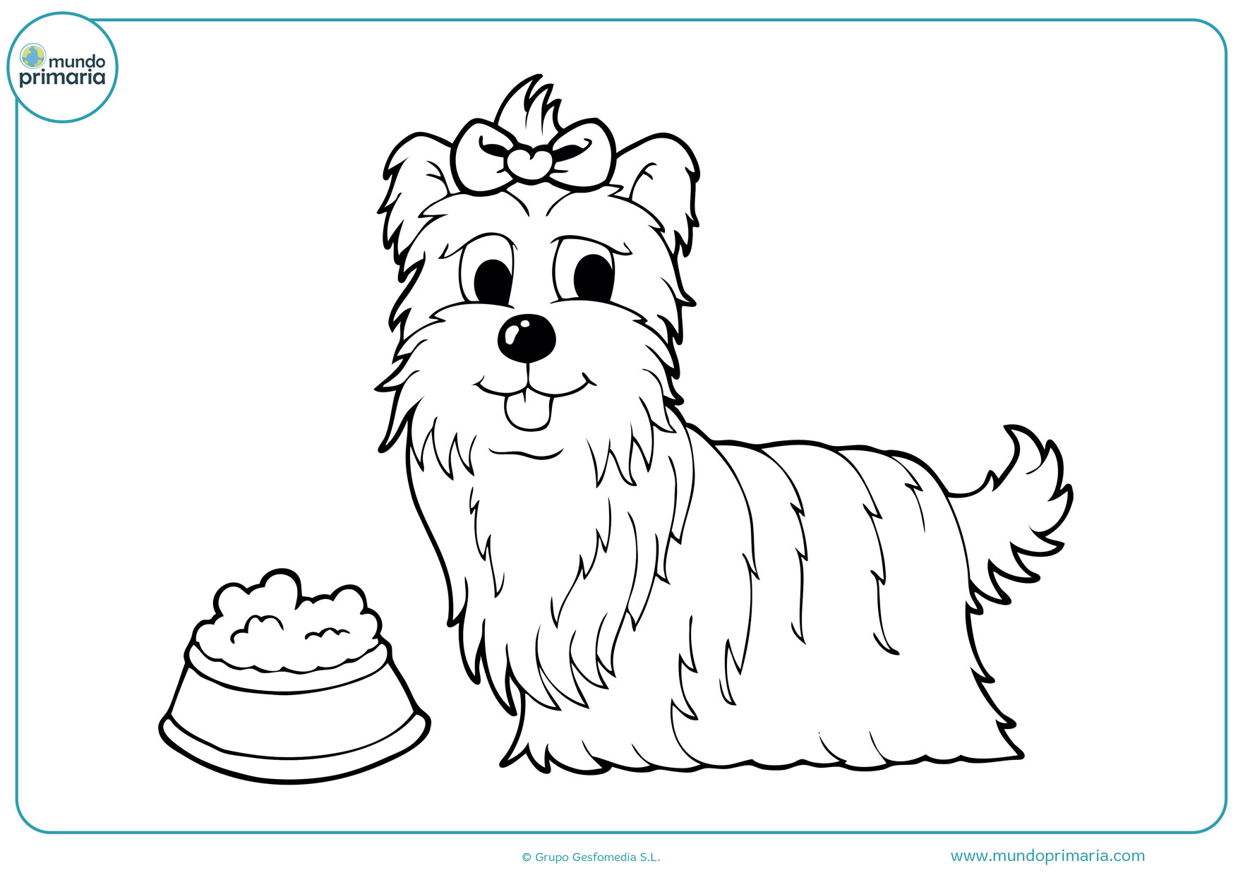 dibujos de perros tiernos para colorear