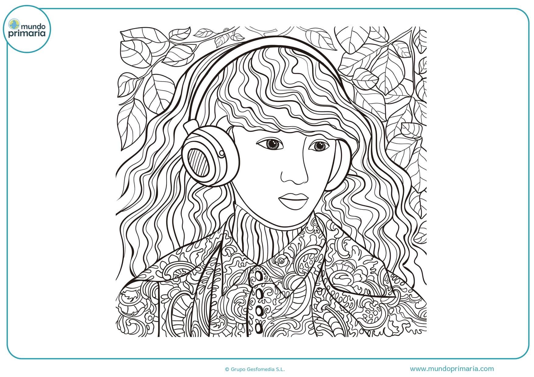 Dibujos De Personas Para Colorear Faciles De Imprimir
