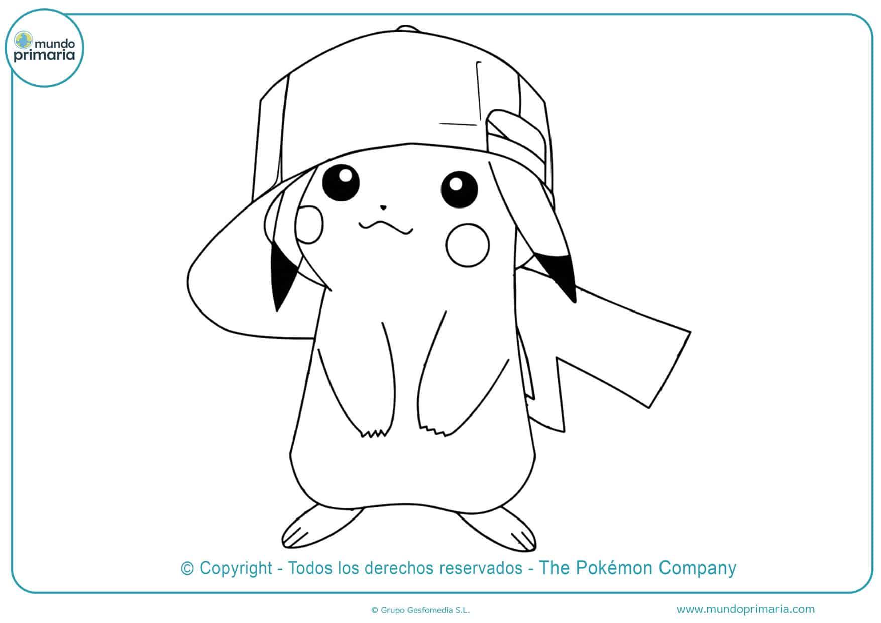 dibujos de pikachu bebe para colorear