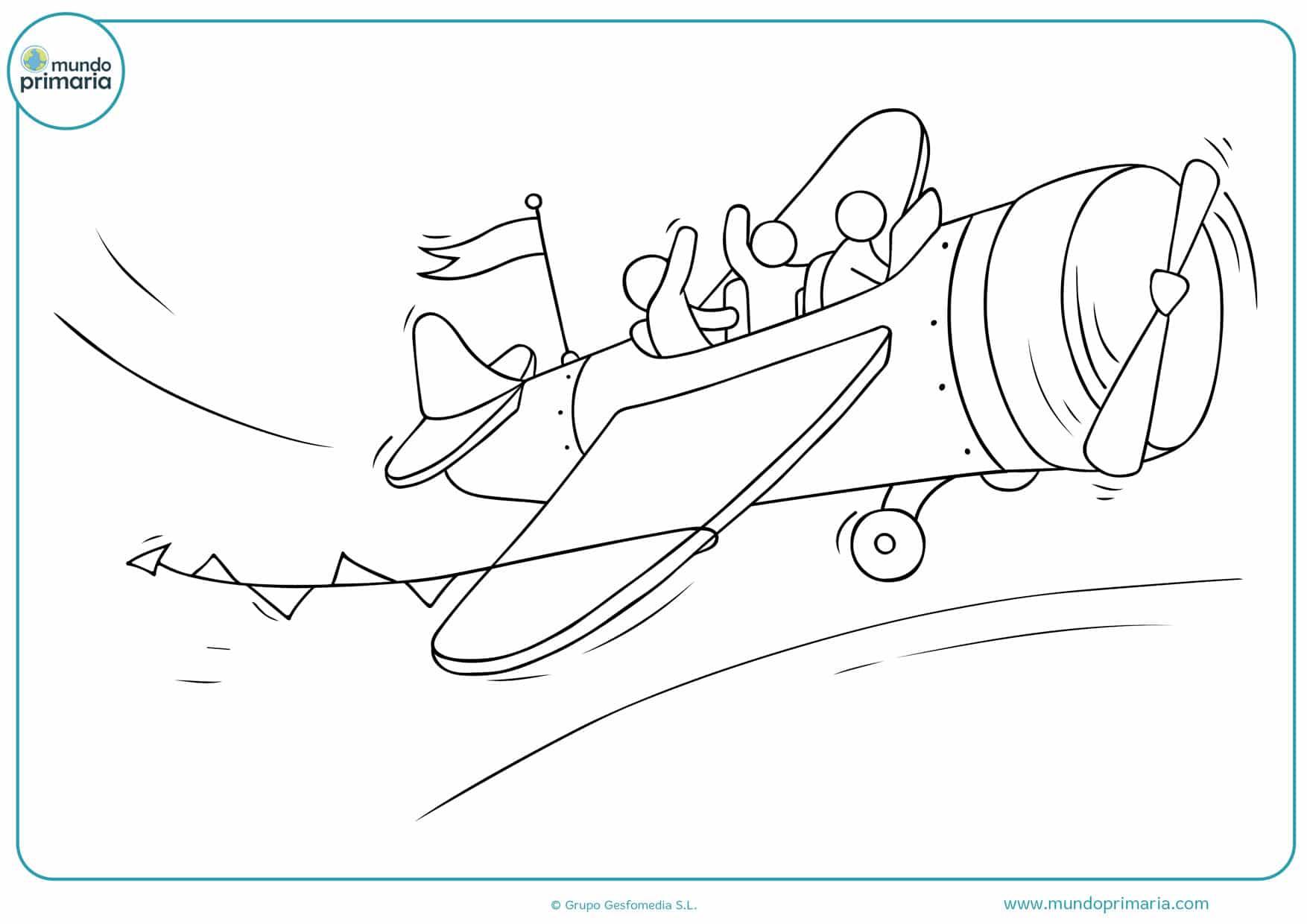dibujos de pilotos de aviones para colorear