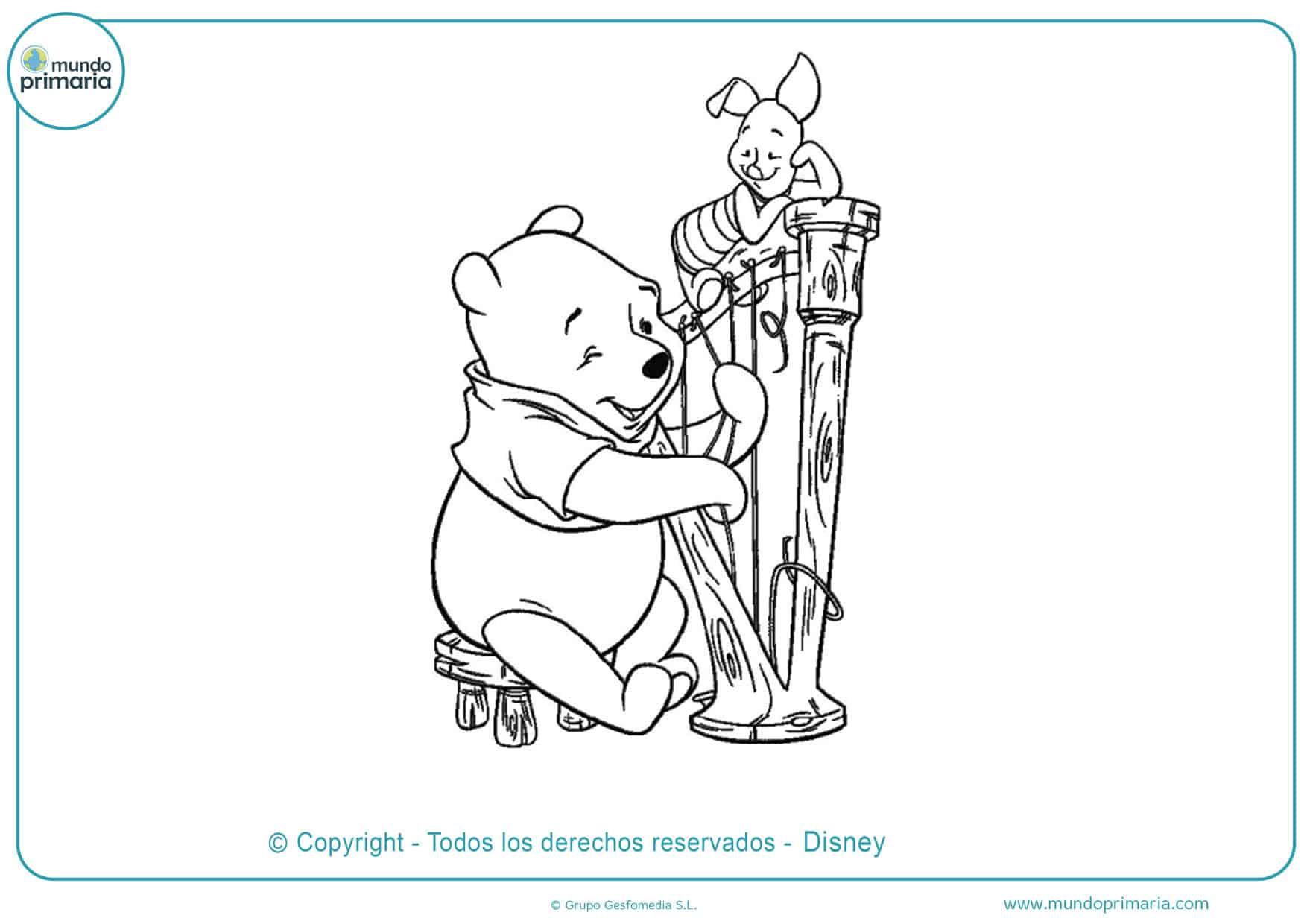 dibujos para pintar de winnie pooh y sus amigos