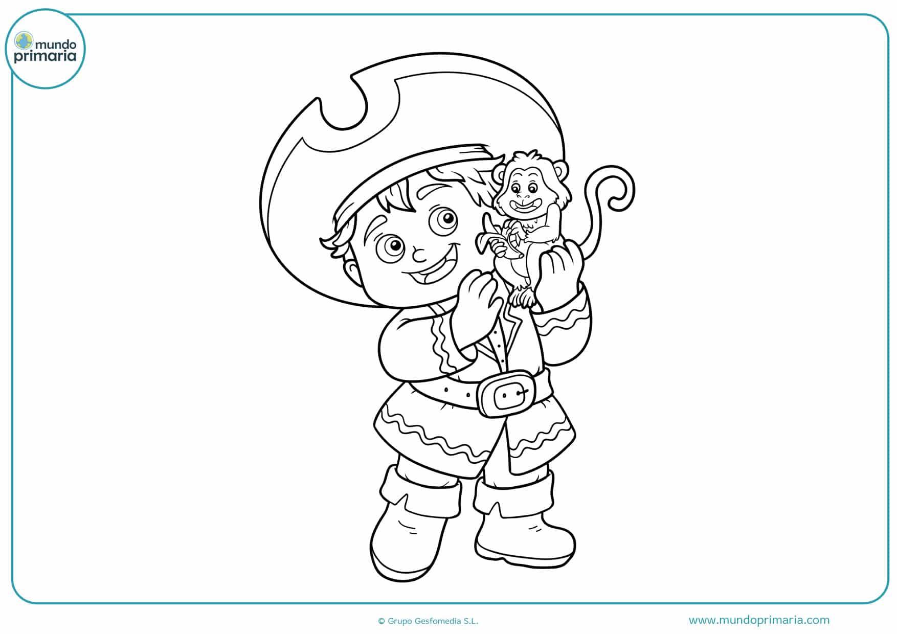 dibujos de piratas del caribe para colorear