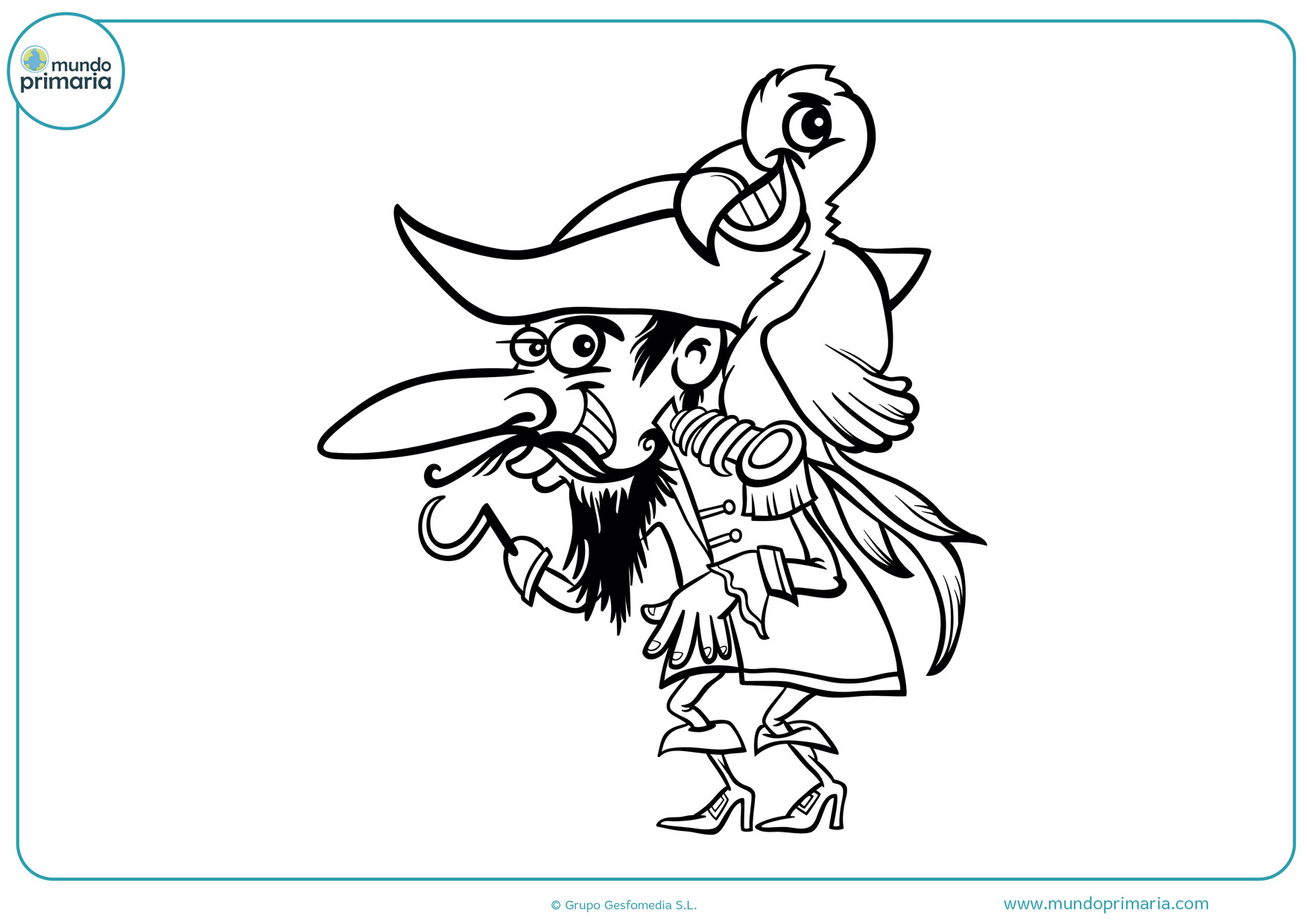 dibujos de piratas para colorear e imprimir gratis