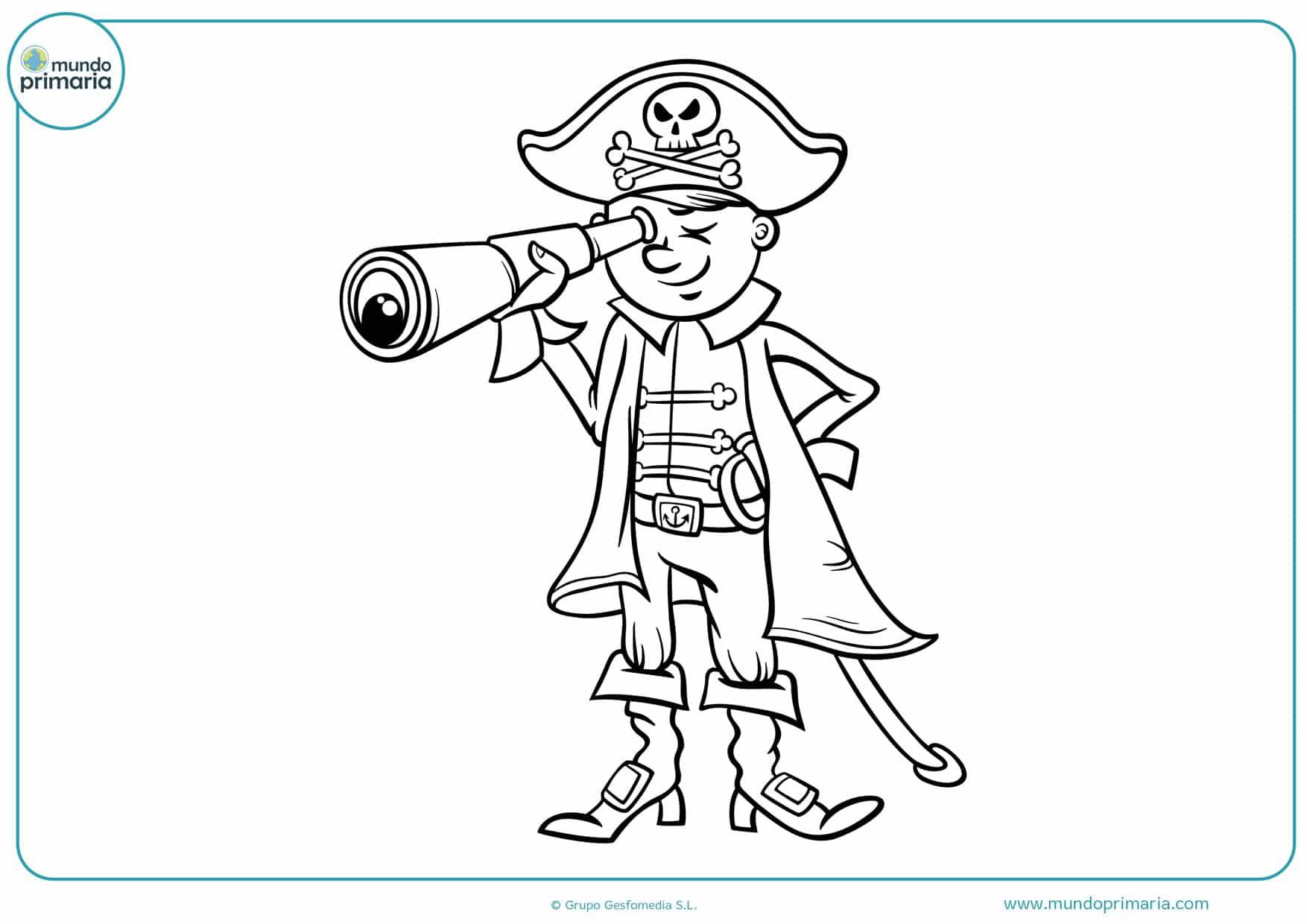 dibujos de piratas para colorear e imprimir