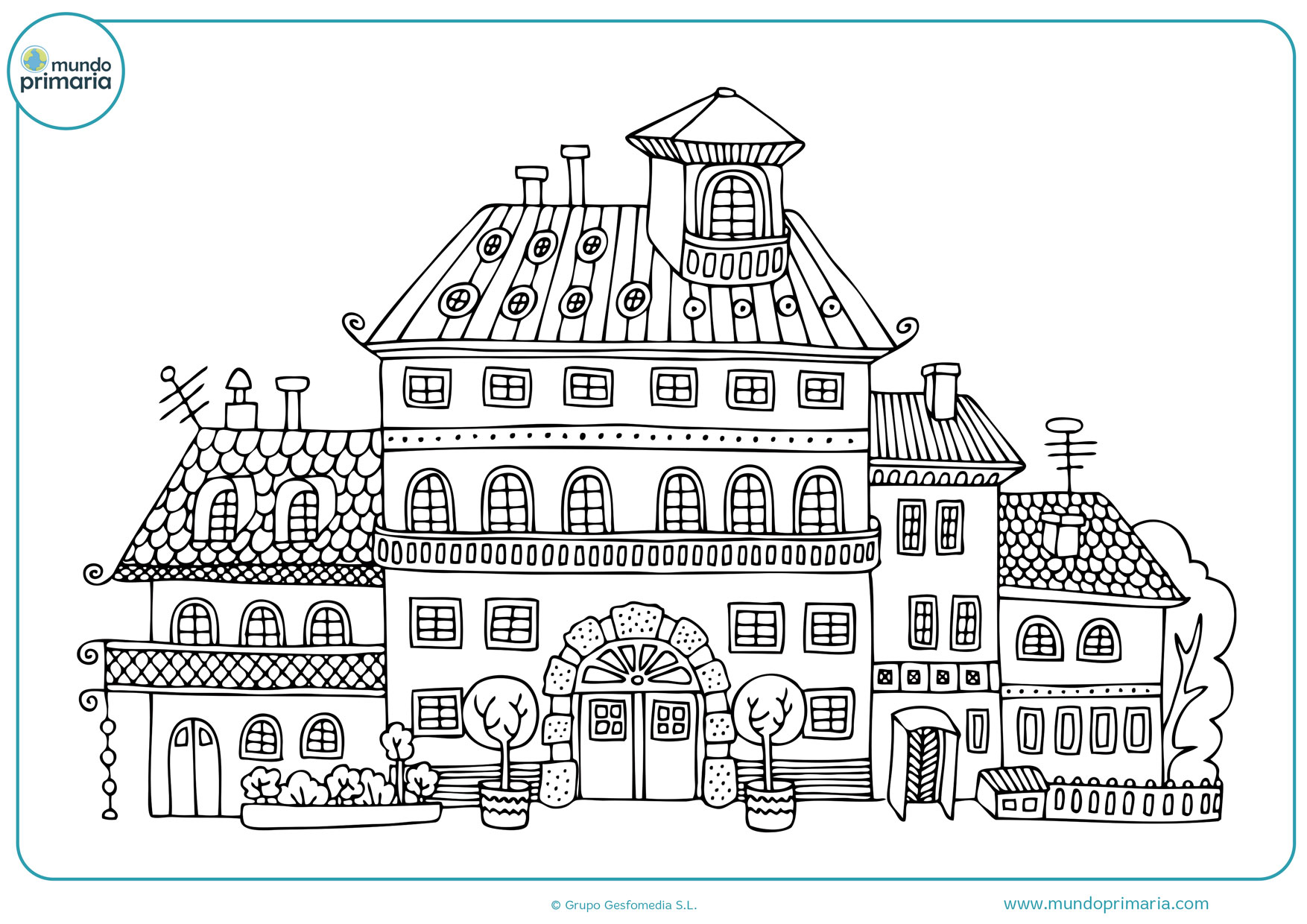 dibujos de planos de casas para colorear