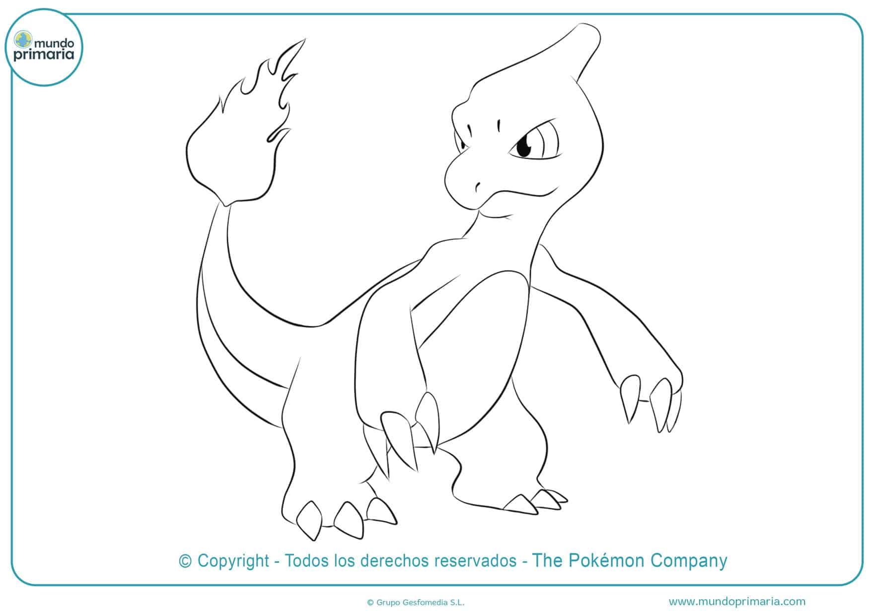 dibujos de pokémon charmeleon para colorear