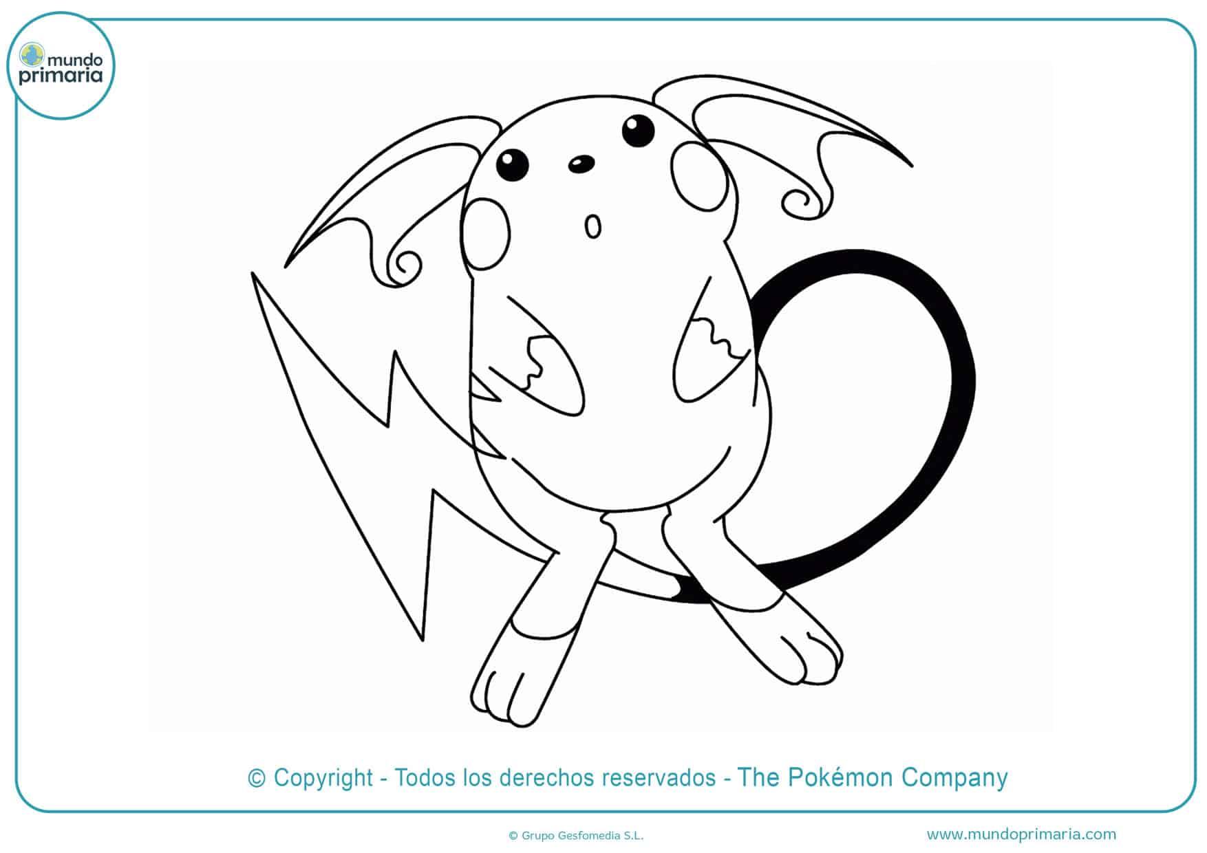 dibujos de pokémon para imprimir y colorear