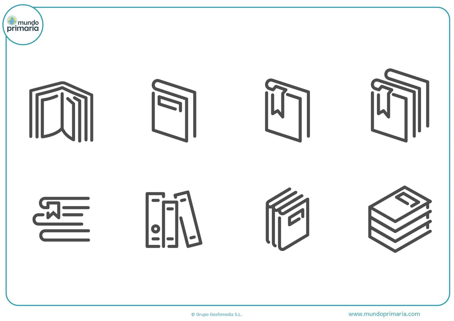 dibujos de portadas de libros para colorear