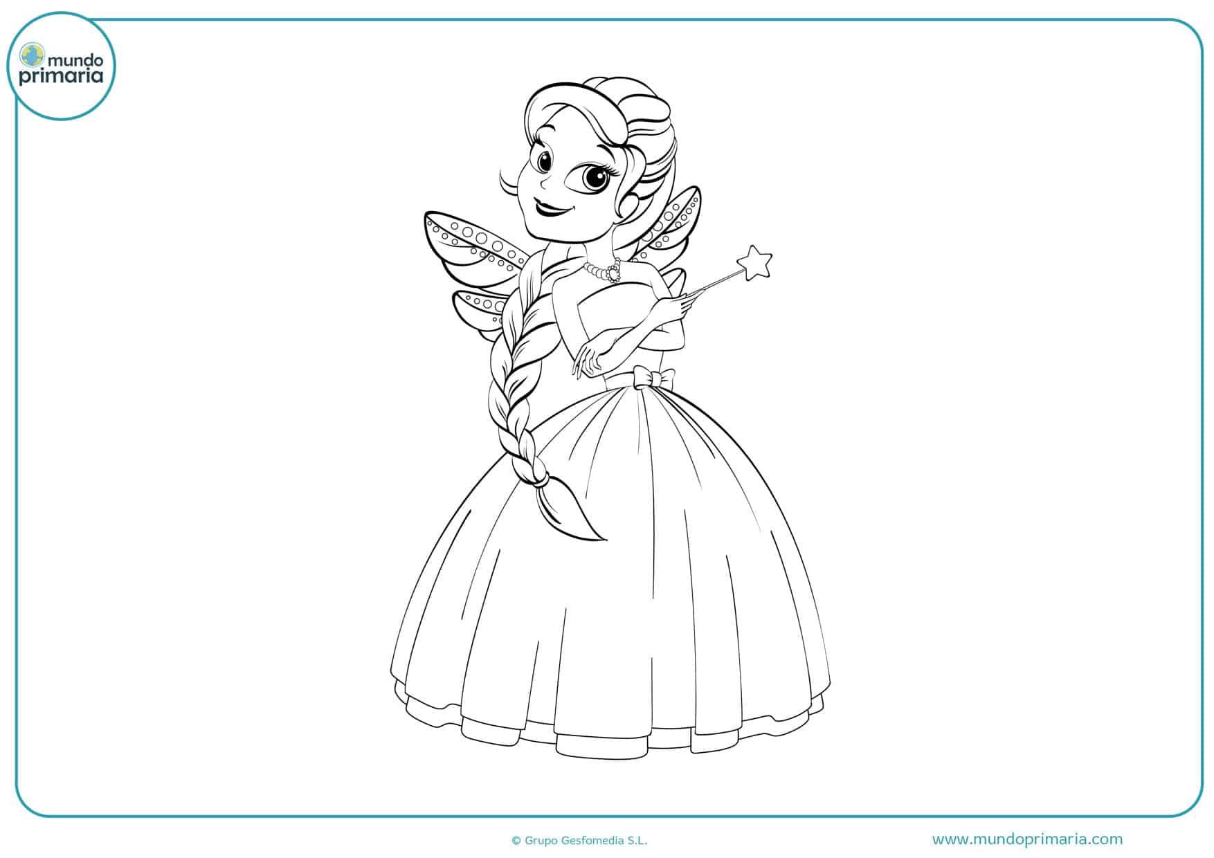 dibujos de princesas hadas para colorear