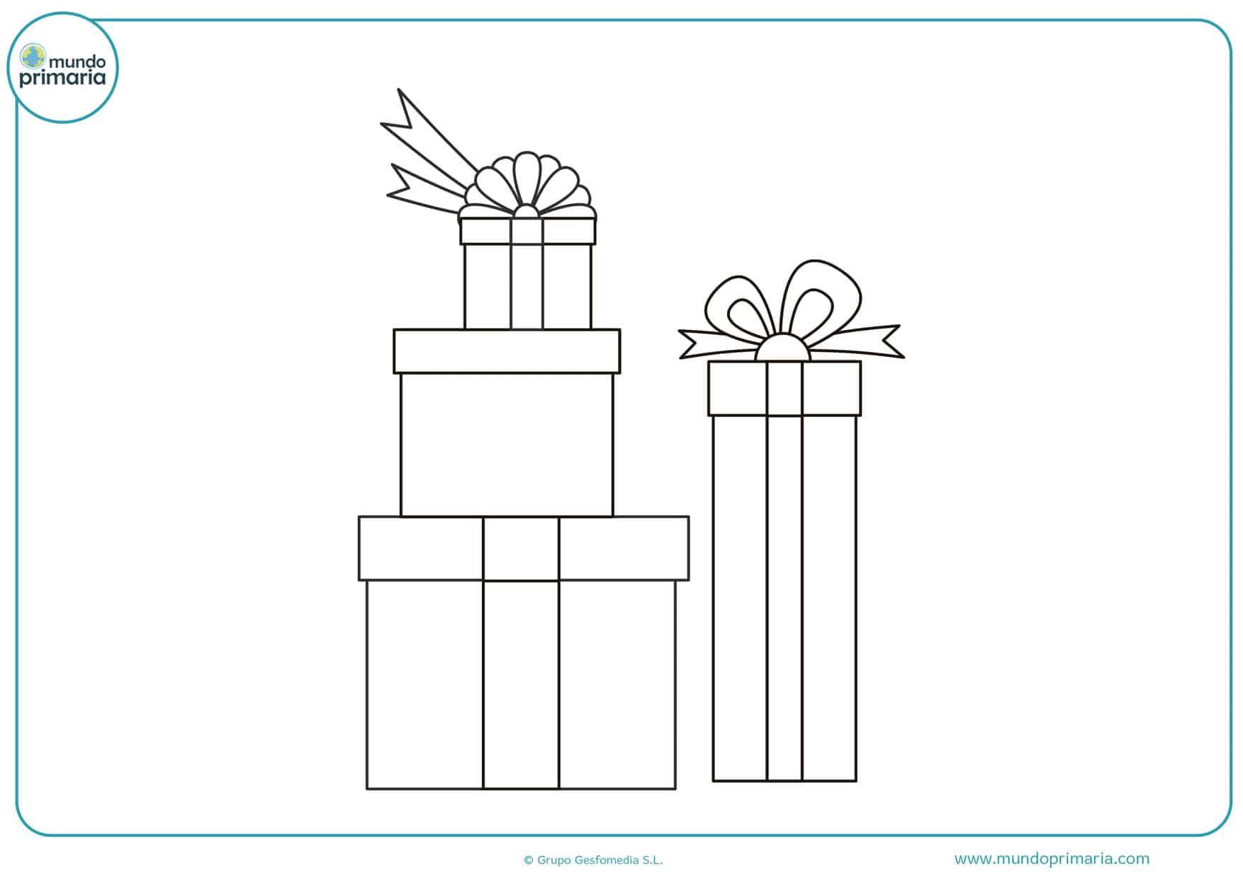 dibujos de regalos de navidad para colorear