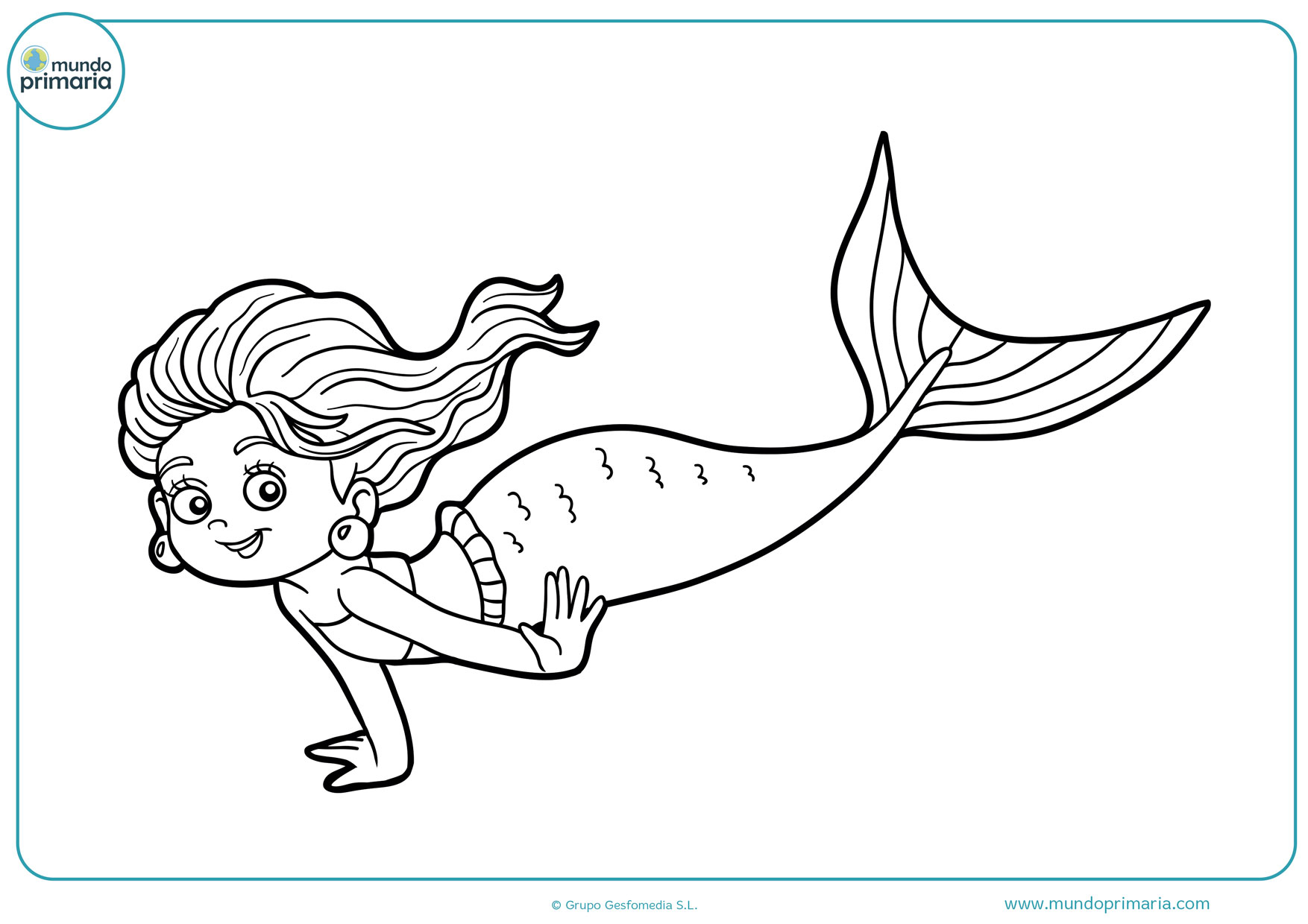 Dibujos De Sirenas Para Colorear E Imprimir Gratis