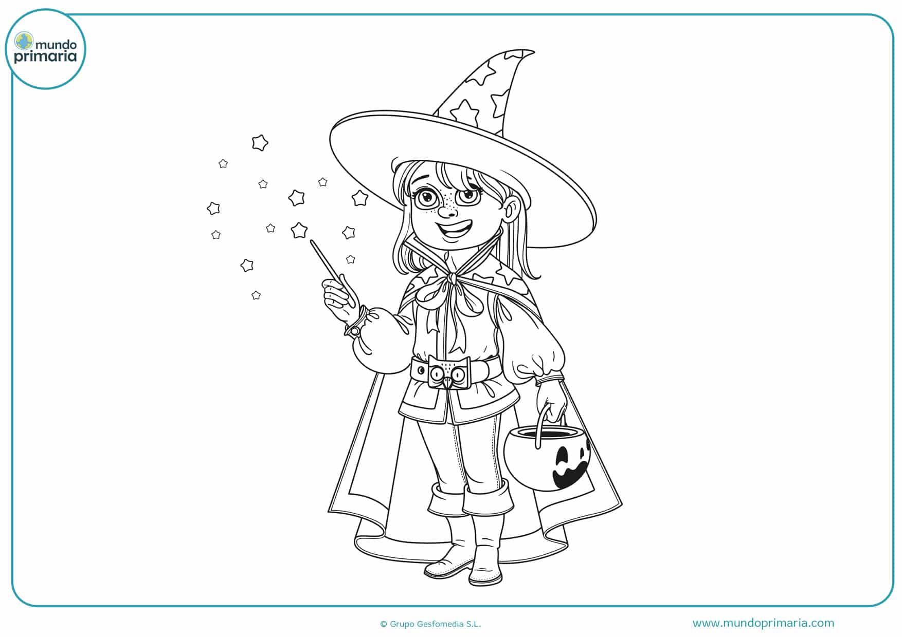 dibujos de sombreros de brujas para colorear