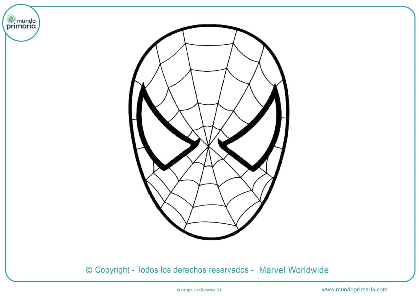 dibujos de spiderman para colorear e imprimir gratis