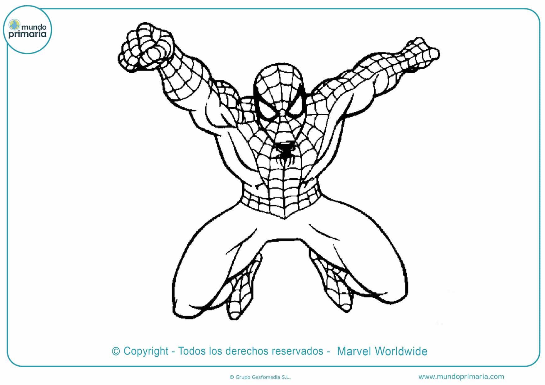 dibujos de spiderman para colorear e imprimir