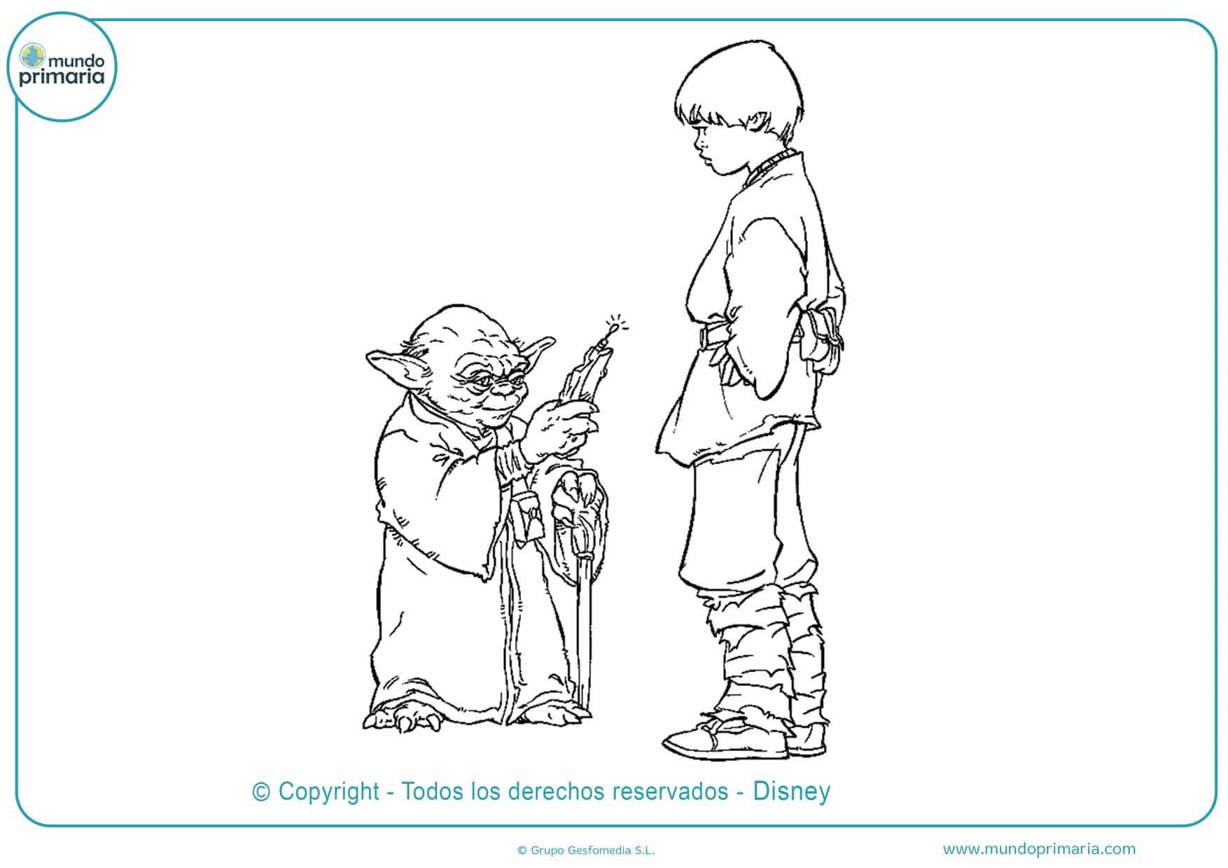 dibujos de star wars para imprimir y colorear