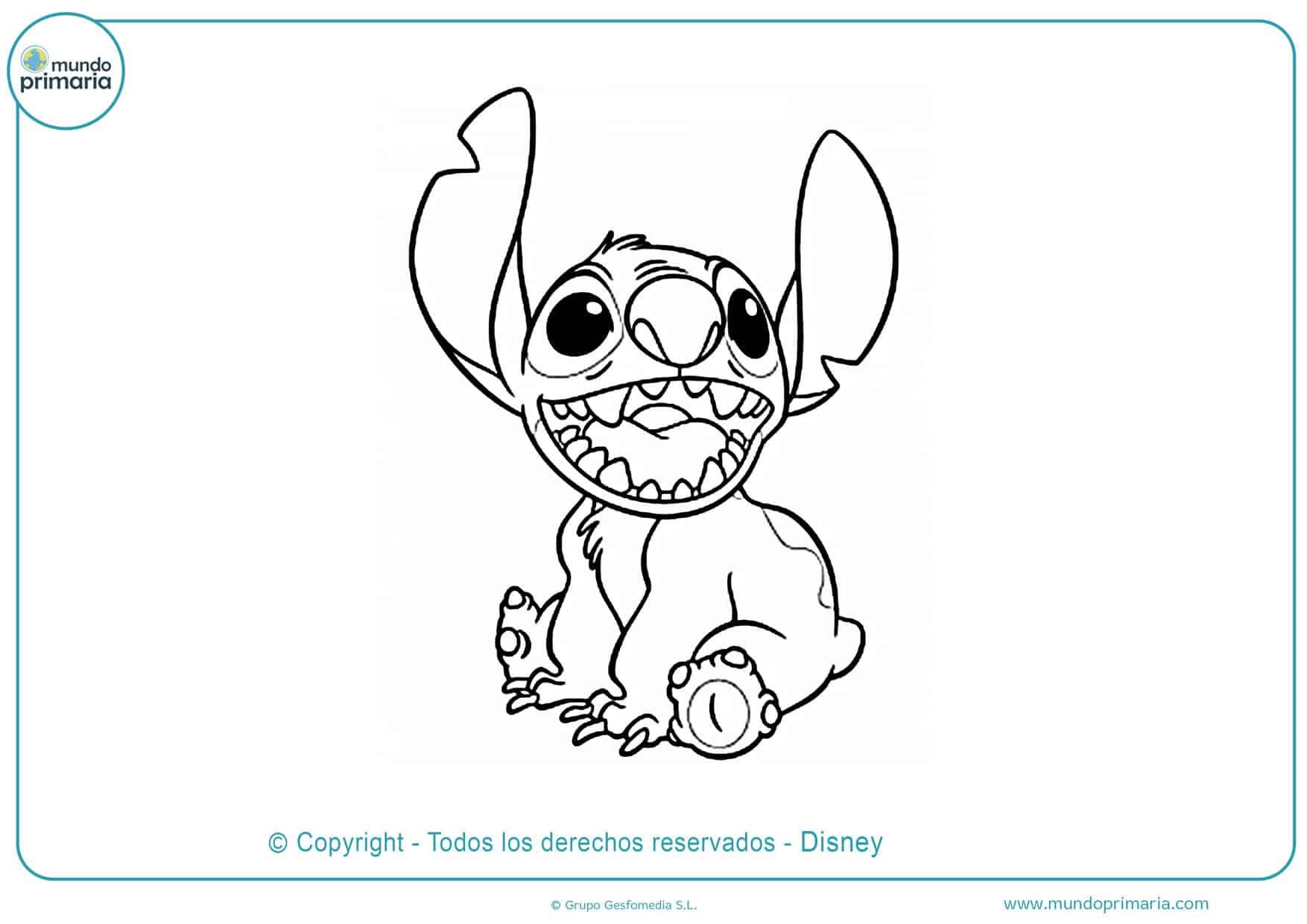 dibujos de stitch para colorear