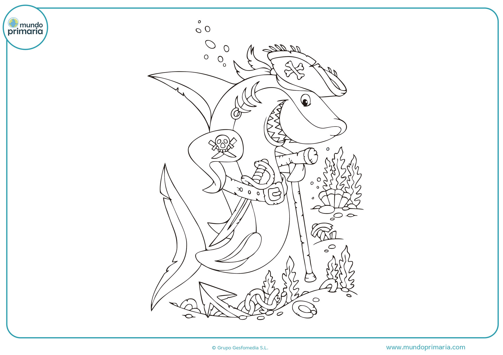 dibujos de tiburones para colorear