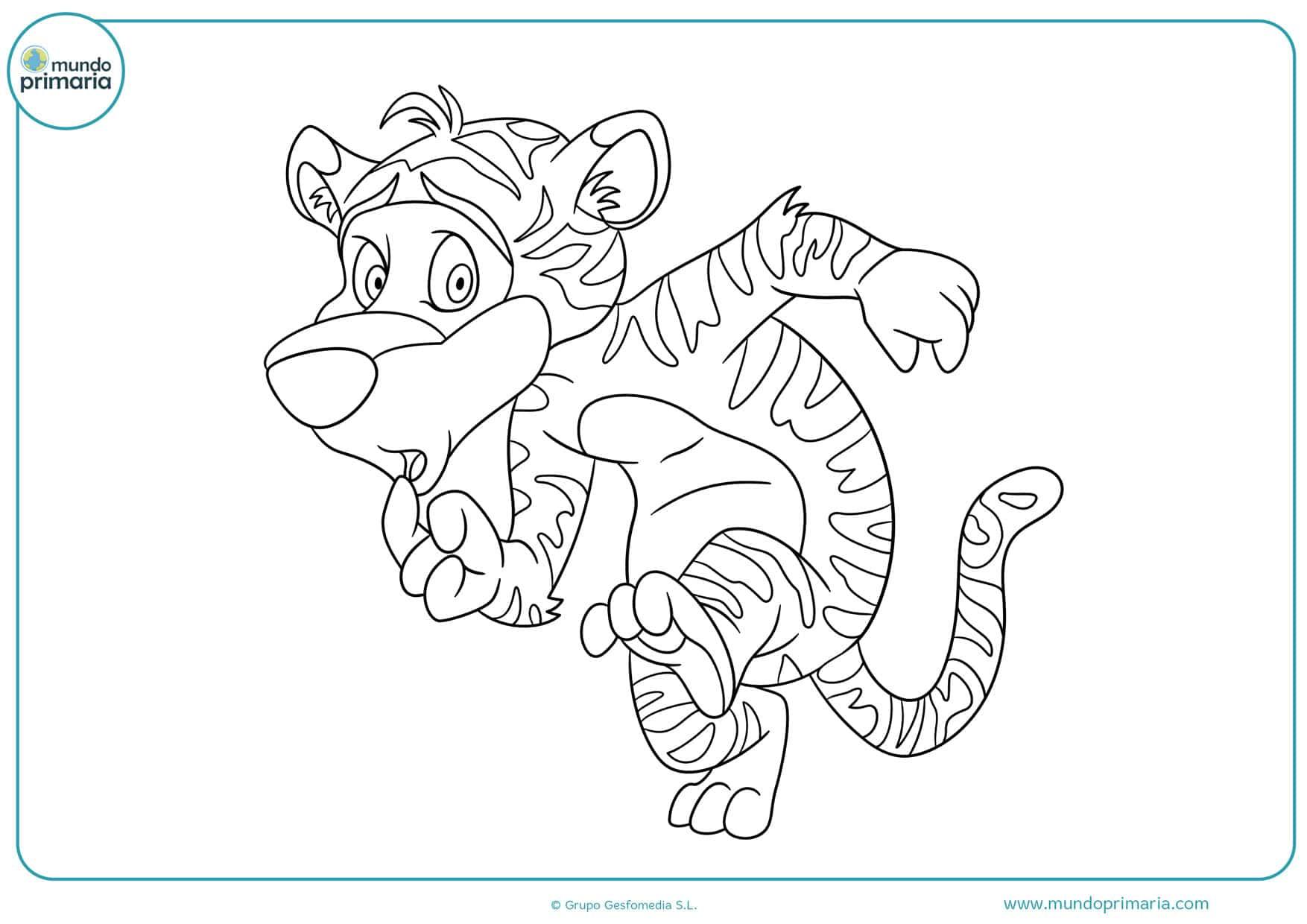 dibujos de tigres para colorear e imprimir