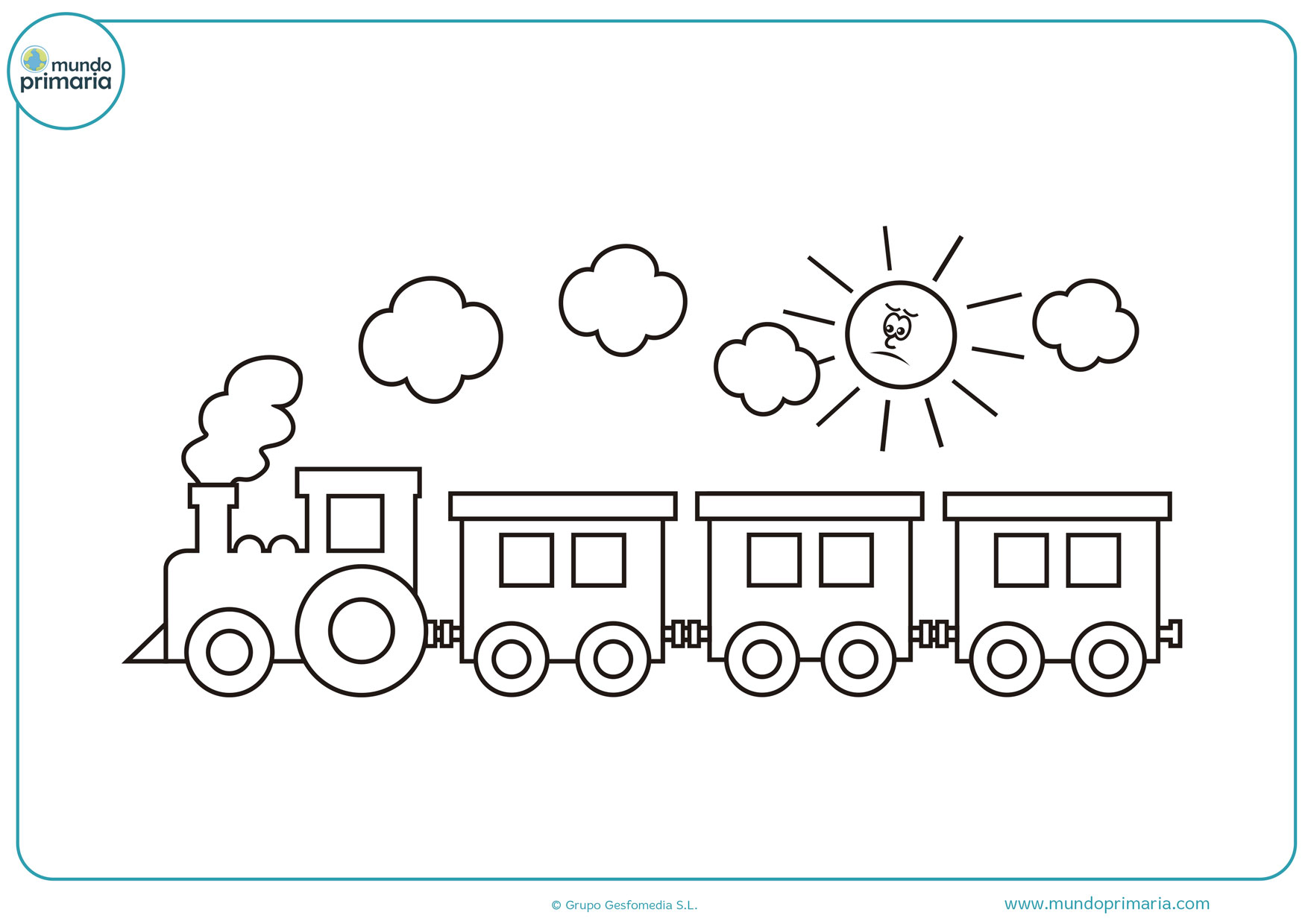 dibujos de trenes animados para colorear