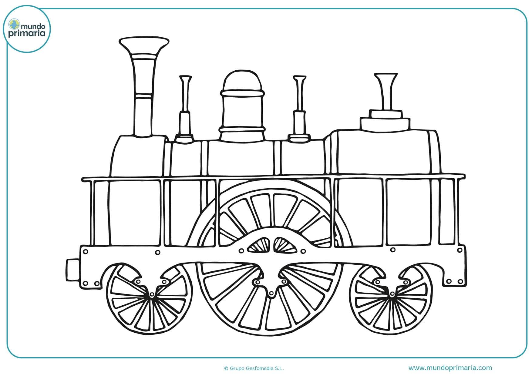 dibujos de trenes antiguos para colorear