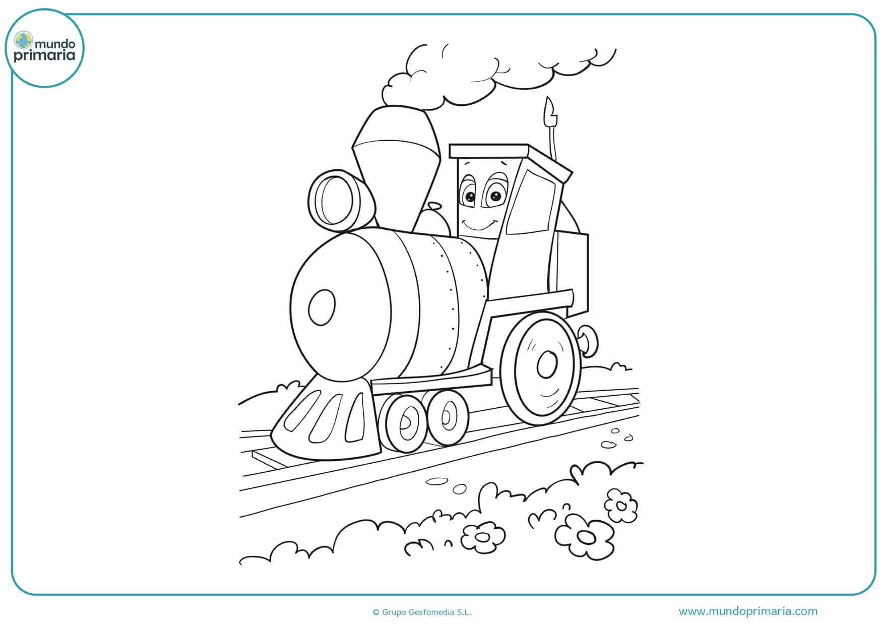 dibujos de trenes para colorear e imprimir gratis