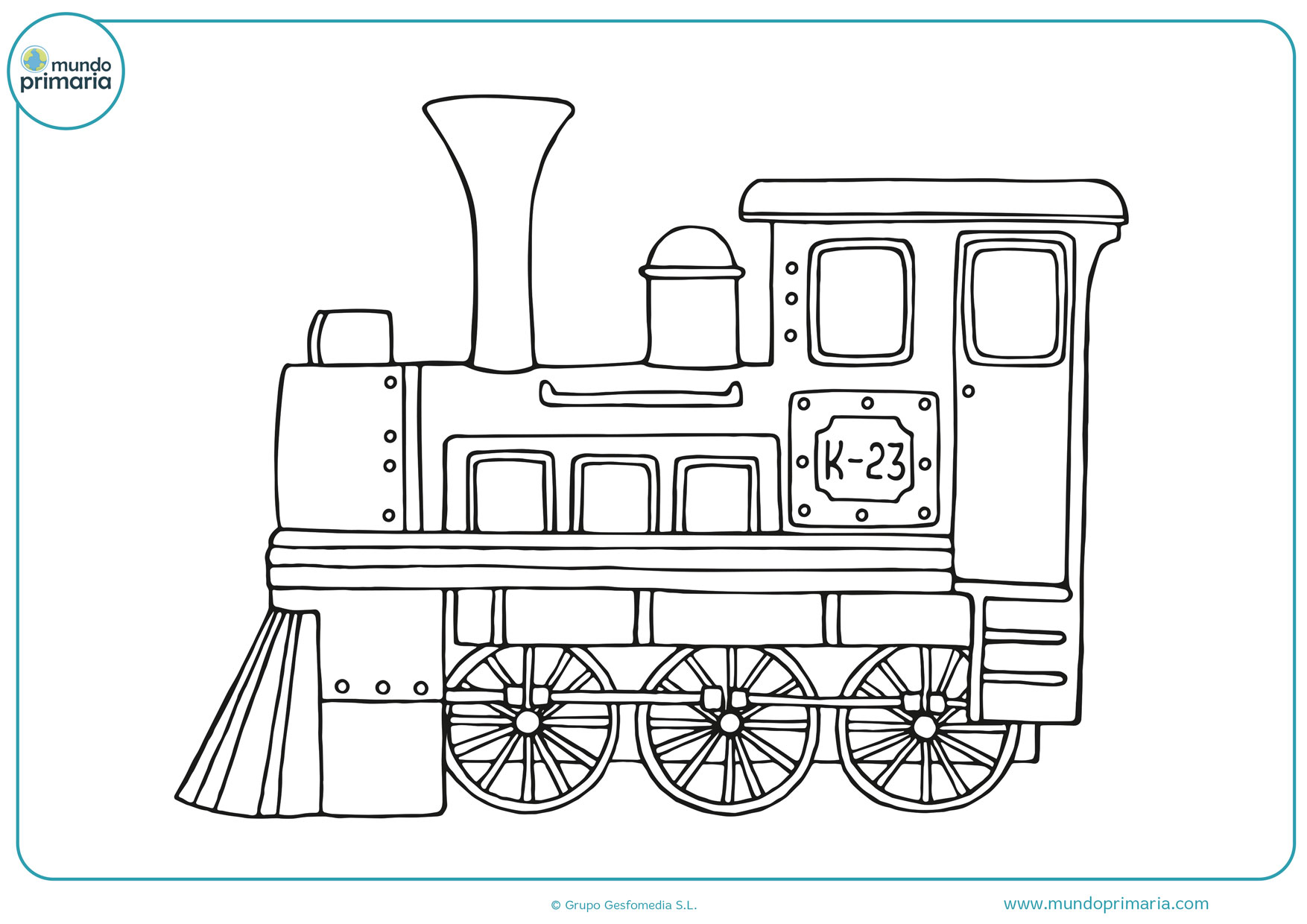 dibujos de trenes infantiles para colorear