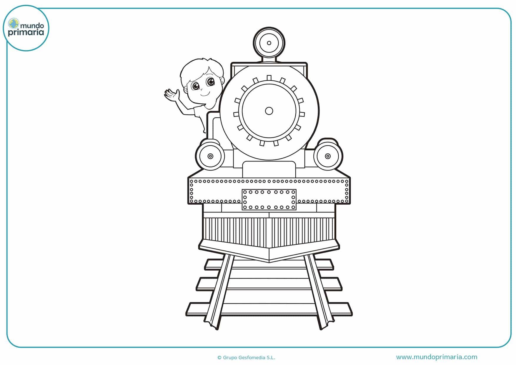 dibujos de trenes modernos para colorear
