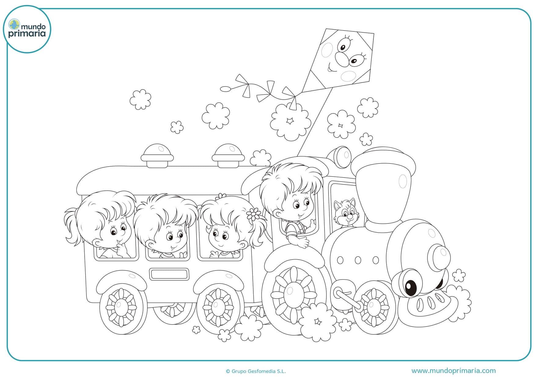 dibujos de trenes para colorear e imprimir
