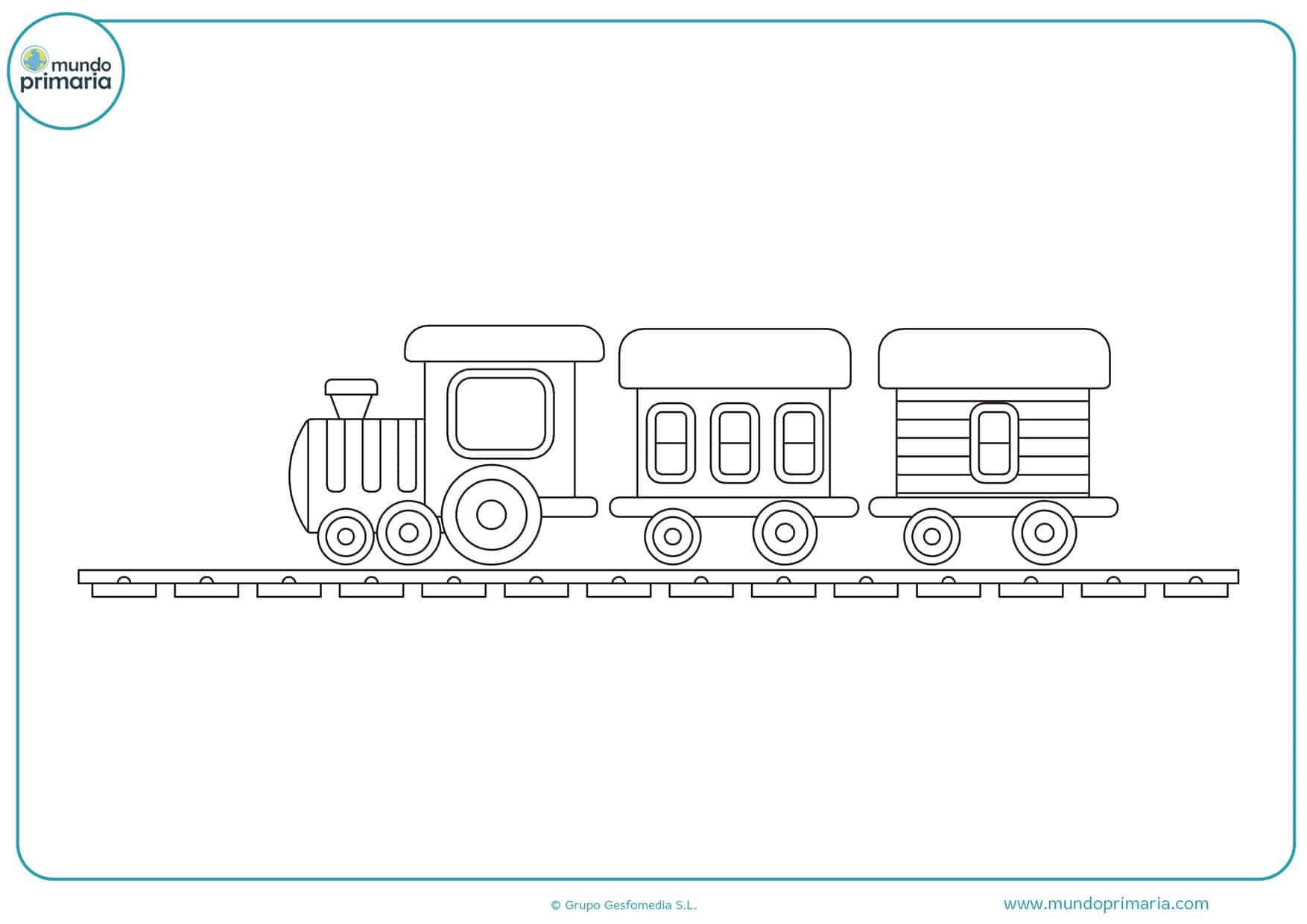 dibujos de trenes para colorear en linea