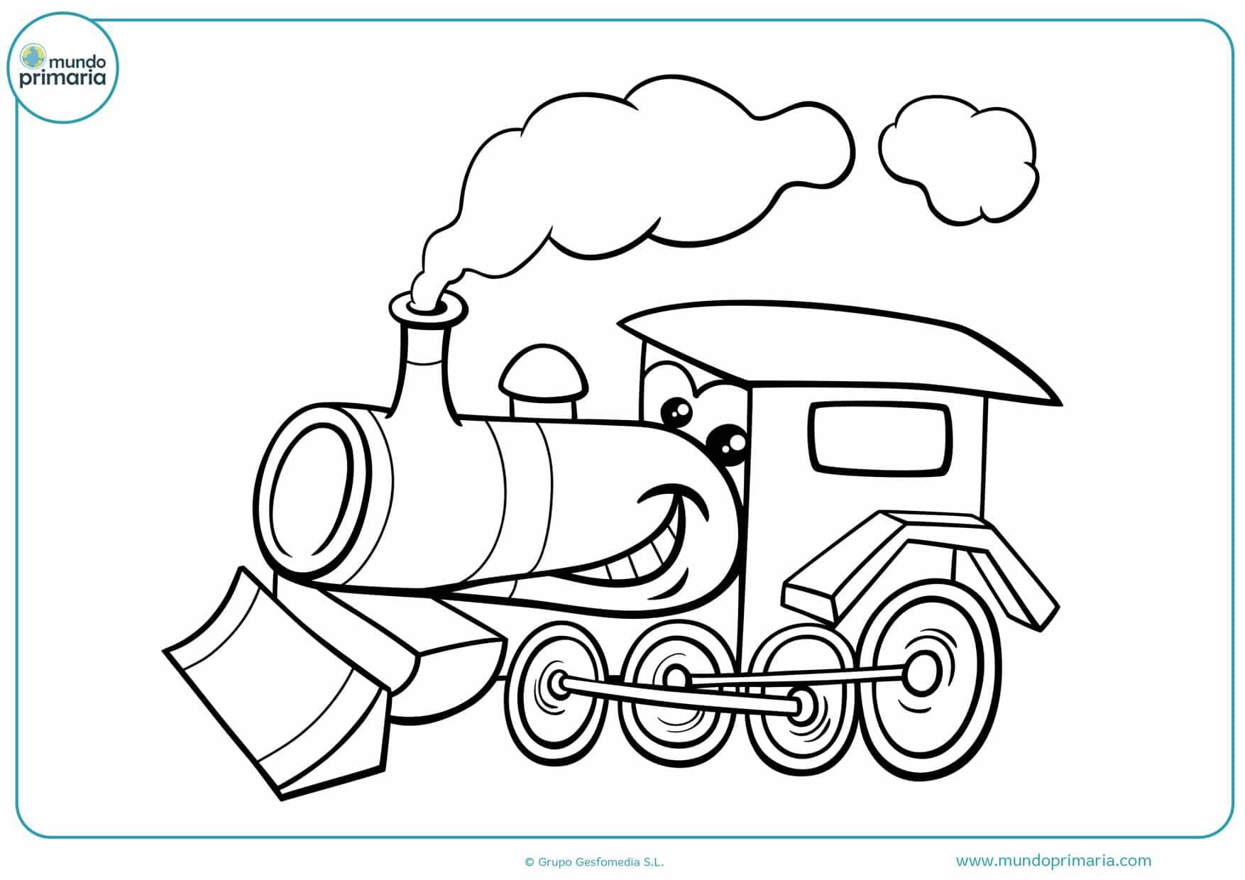 Dibujos De Trenes Para Colorear Infatiles Para Imprimir