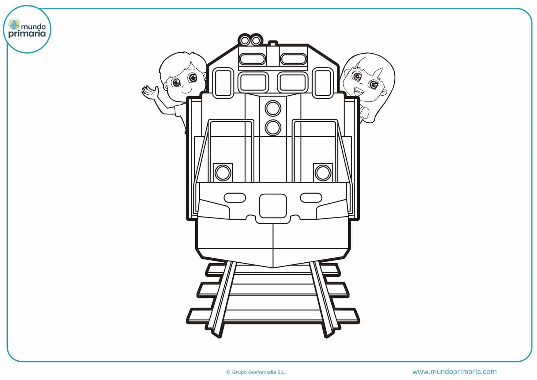 dibujos de trenes para niños para colorear