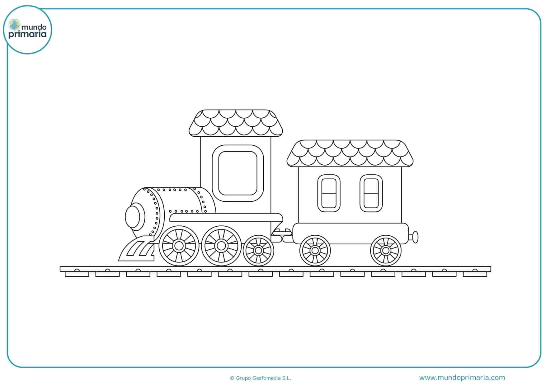 dibujos de trenes con vagones para colorear