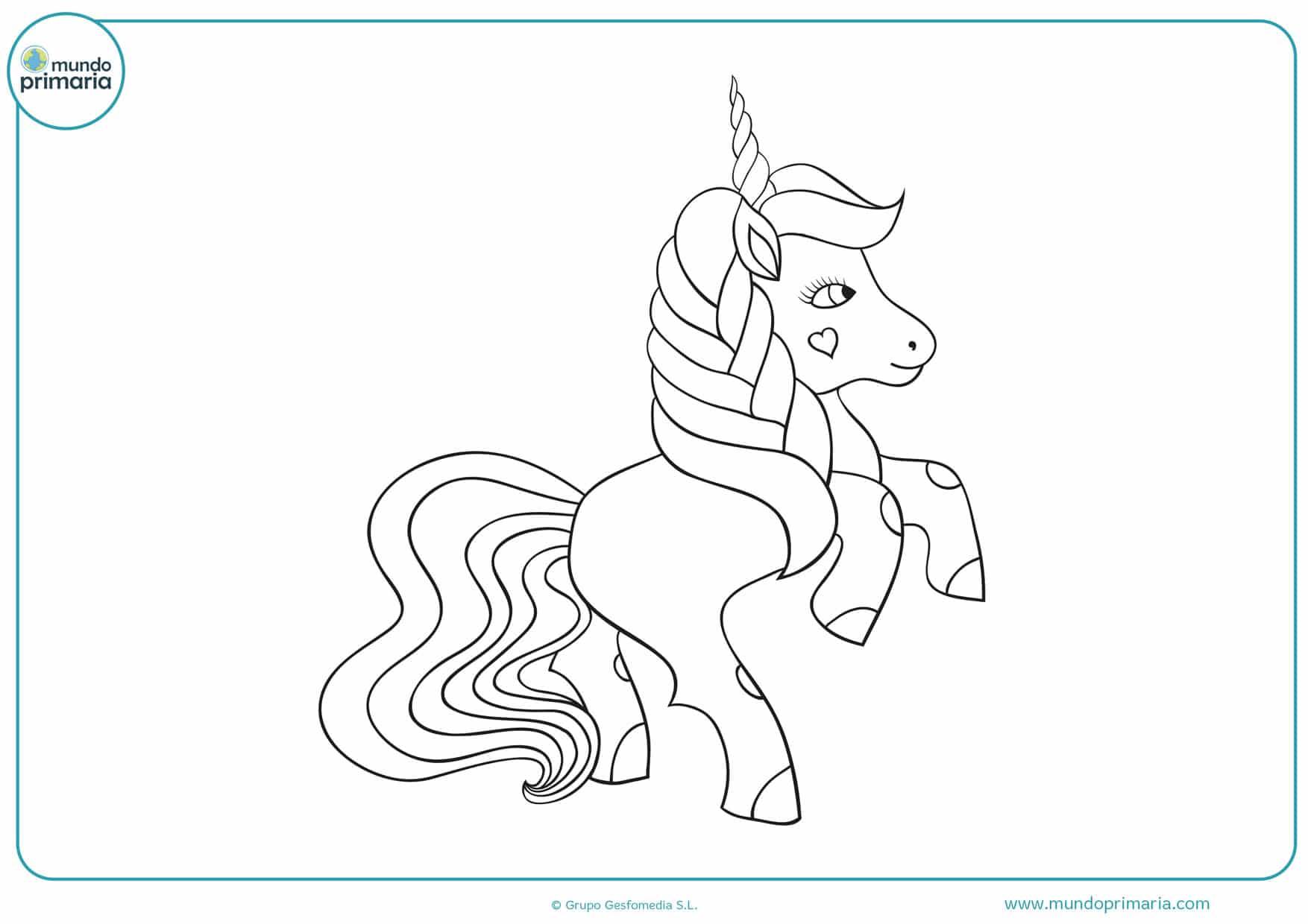 dibujos de unicornios bebes para colorear