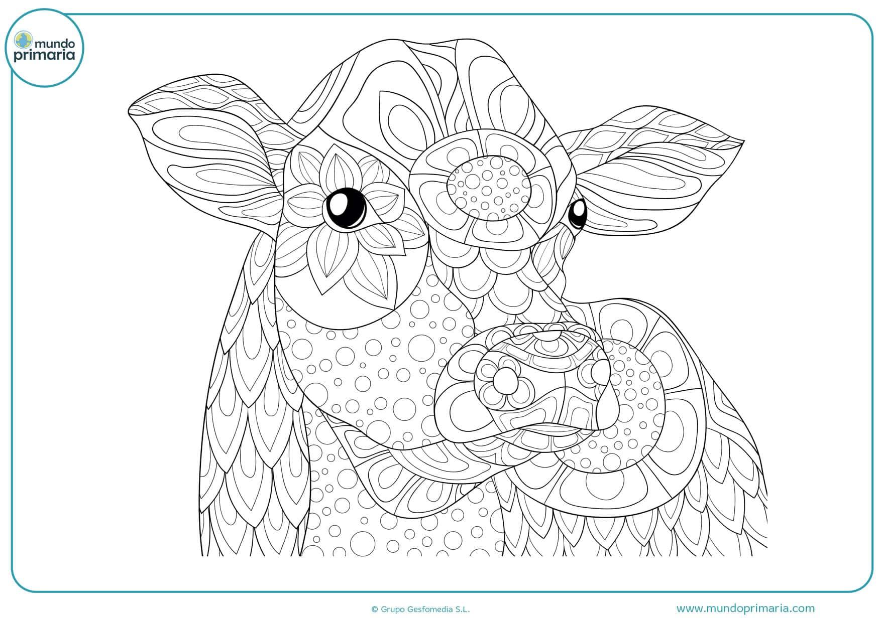 dibujos de vacas infantiles para colorear
