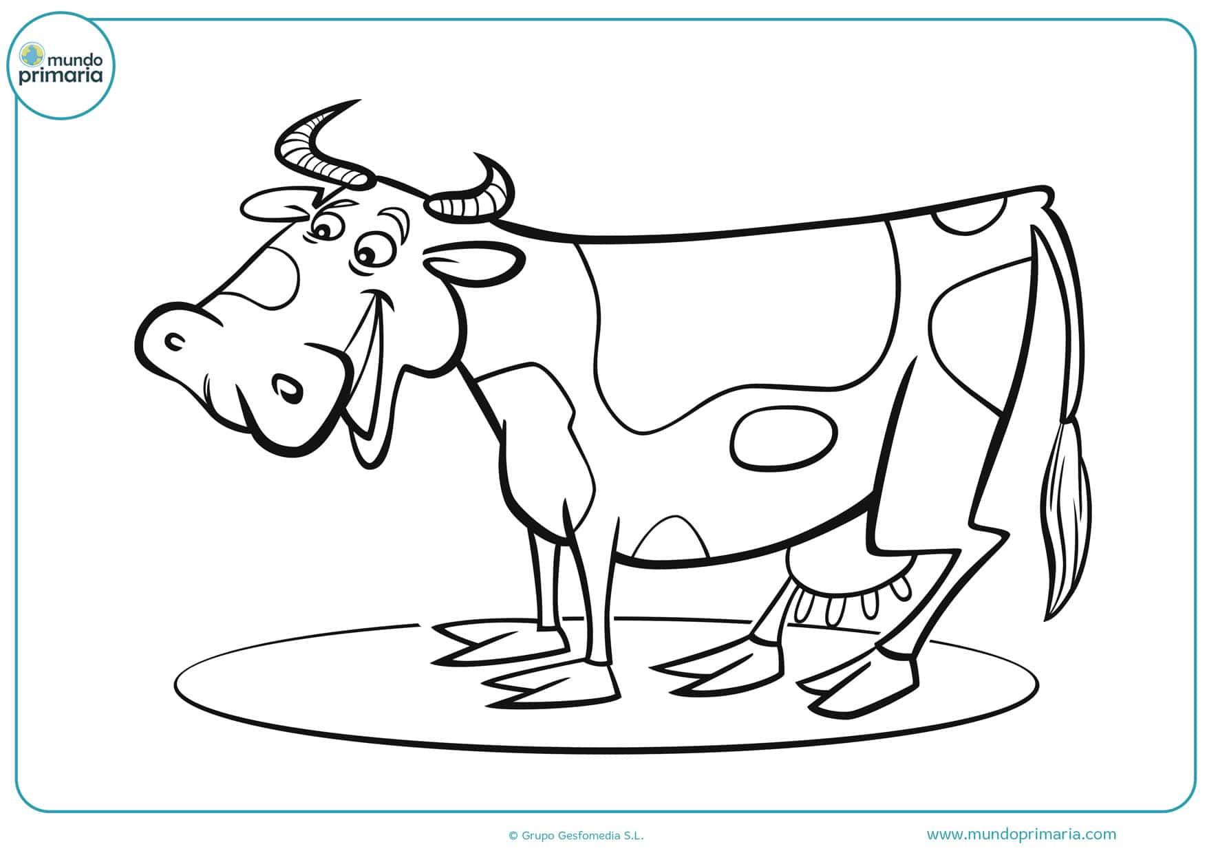 Dibujos De Vacas Para Colorear Mundo Primaria