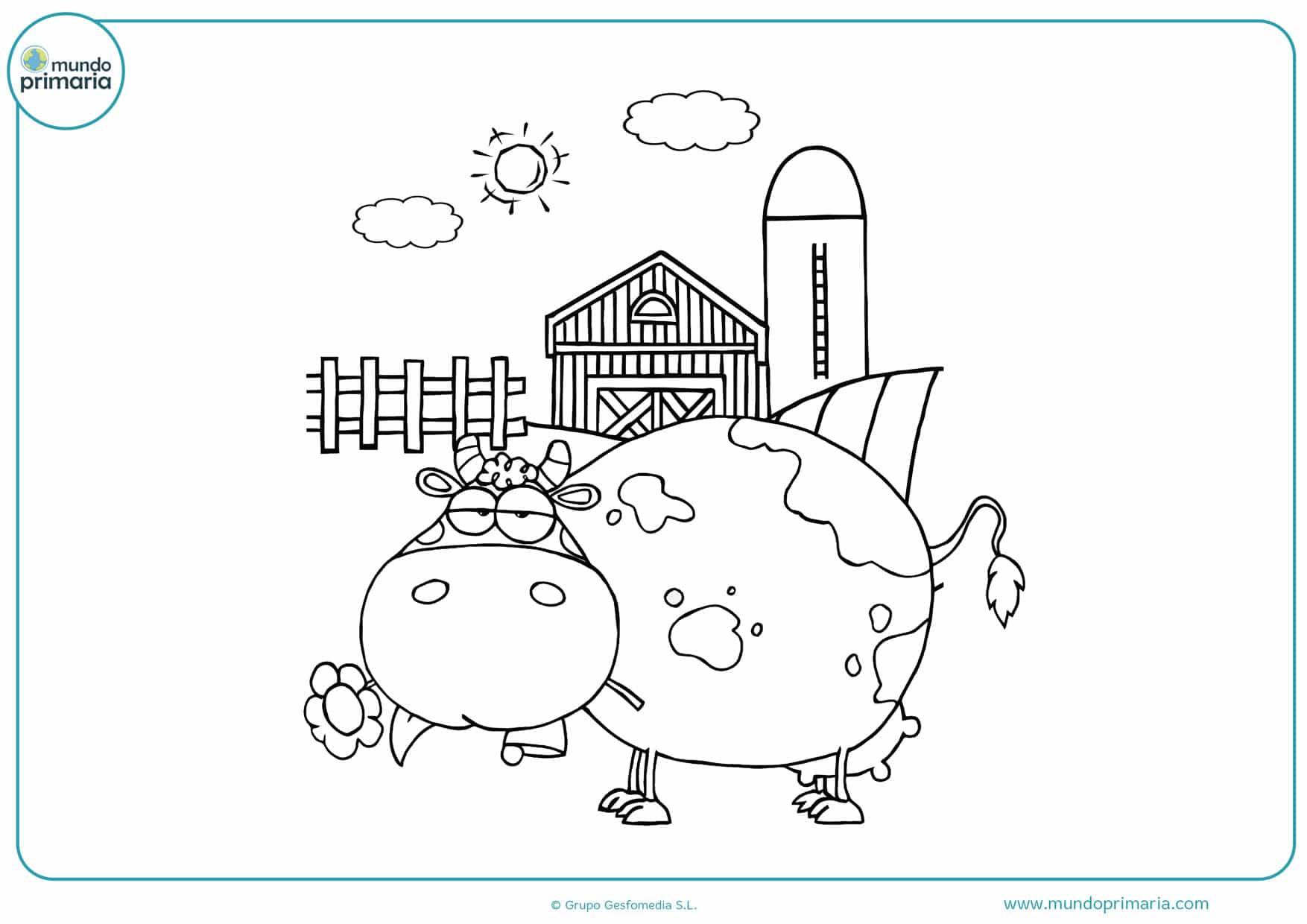 dibujos de vacas para colorear infantiles