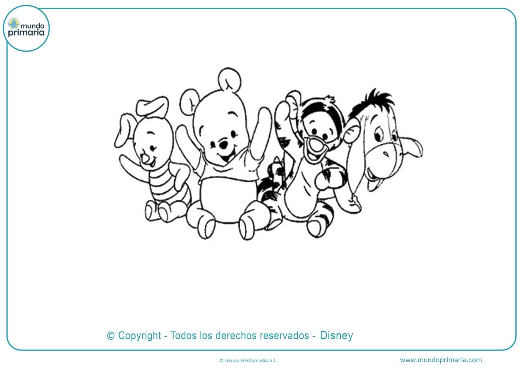 100 Dibujos Para Colorear De Winnie Pooh Y Sus Amigos Dibujos