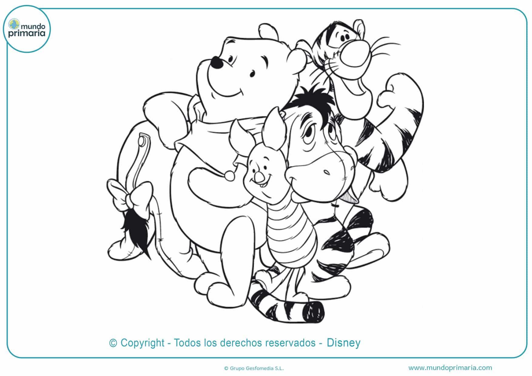 dibujos de winnie pooh para colorear e imprimir