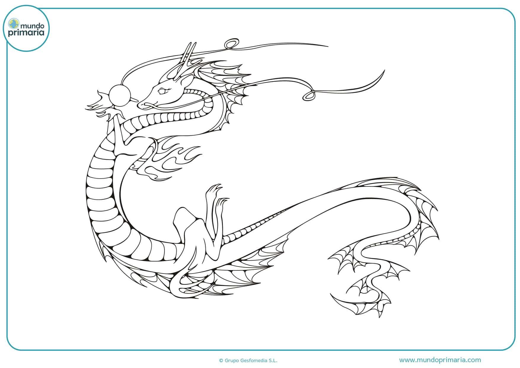 dragón para colorear