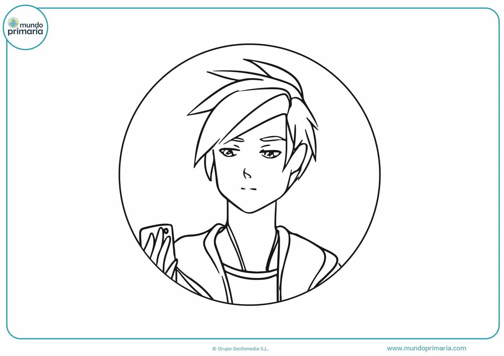 imágenes de anime manga para colorear