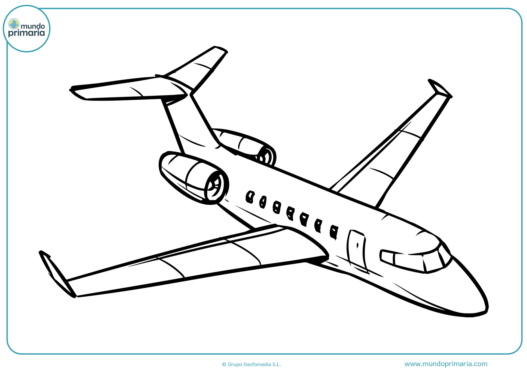 imágenes de aviones para colorear