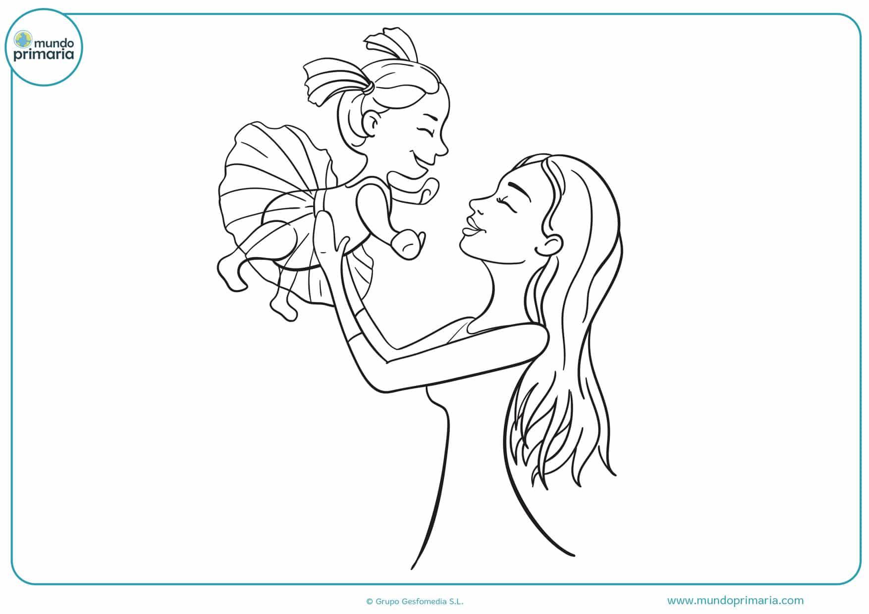 imágenes del día de la madre para colorear
