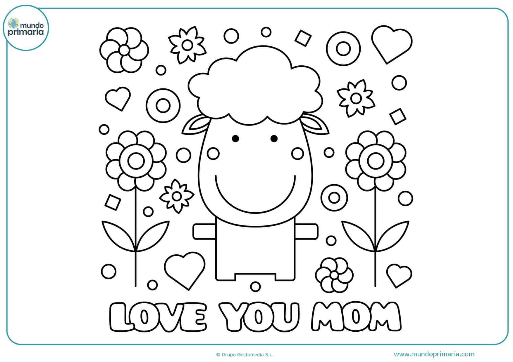 imágenes del día de la madre para imprimir y colorear