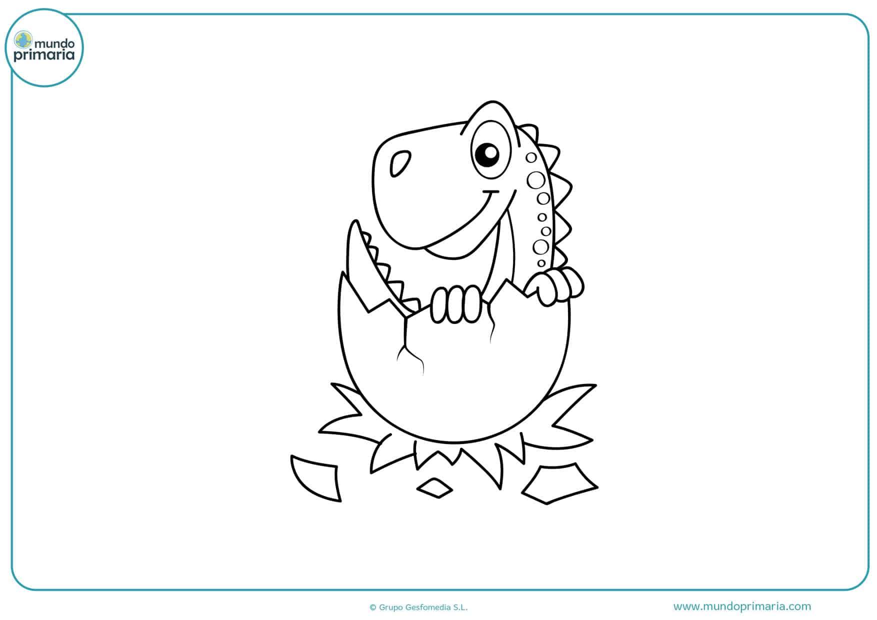 imagenes de dibujos de dinosaurios para colorear