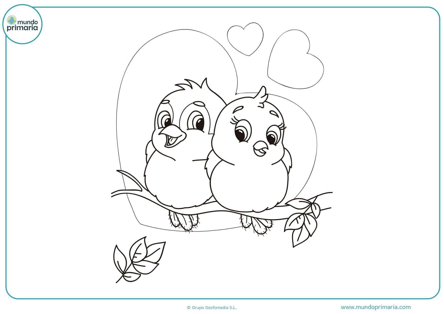 imágenes de dibujos para colorear de amor